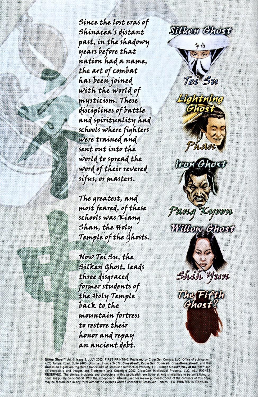 Read online Silken Ghost comic -  Issue #2 - 2