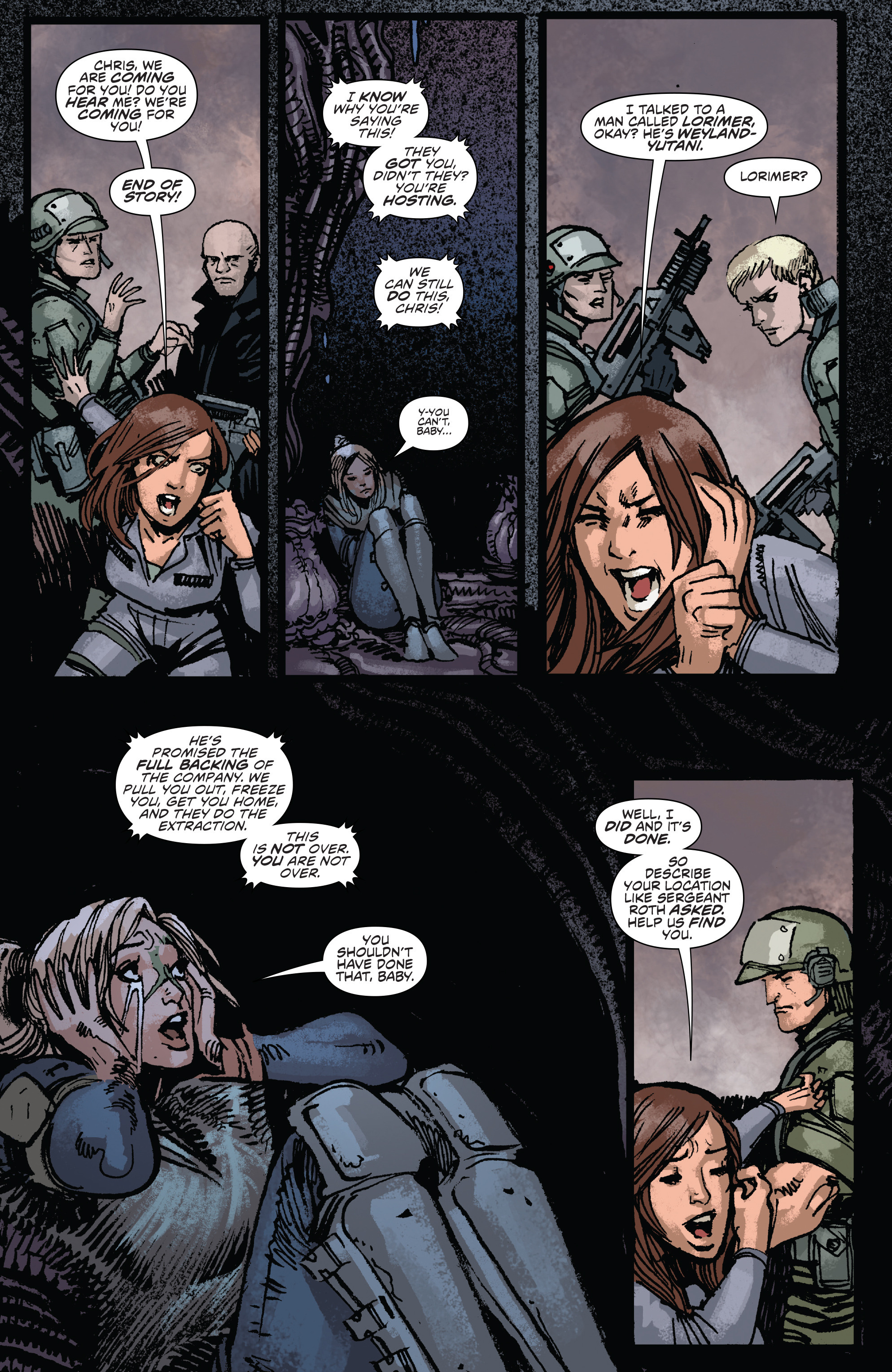 Read online Aliens: Life And Death comic -  Issue #3 - 8