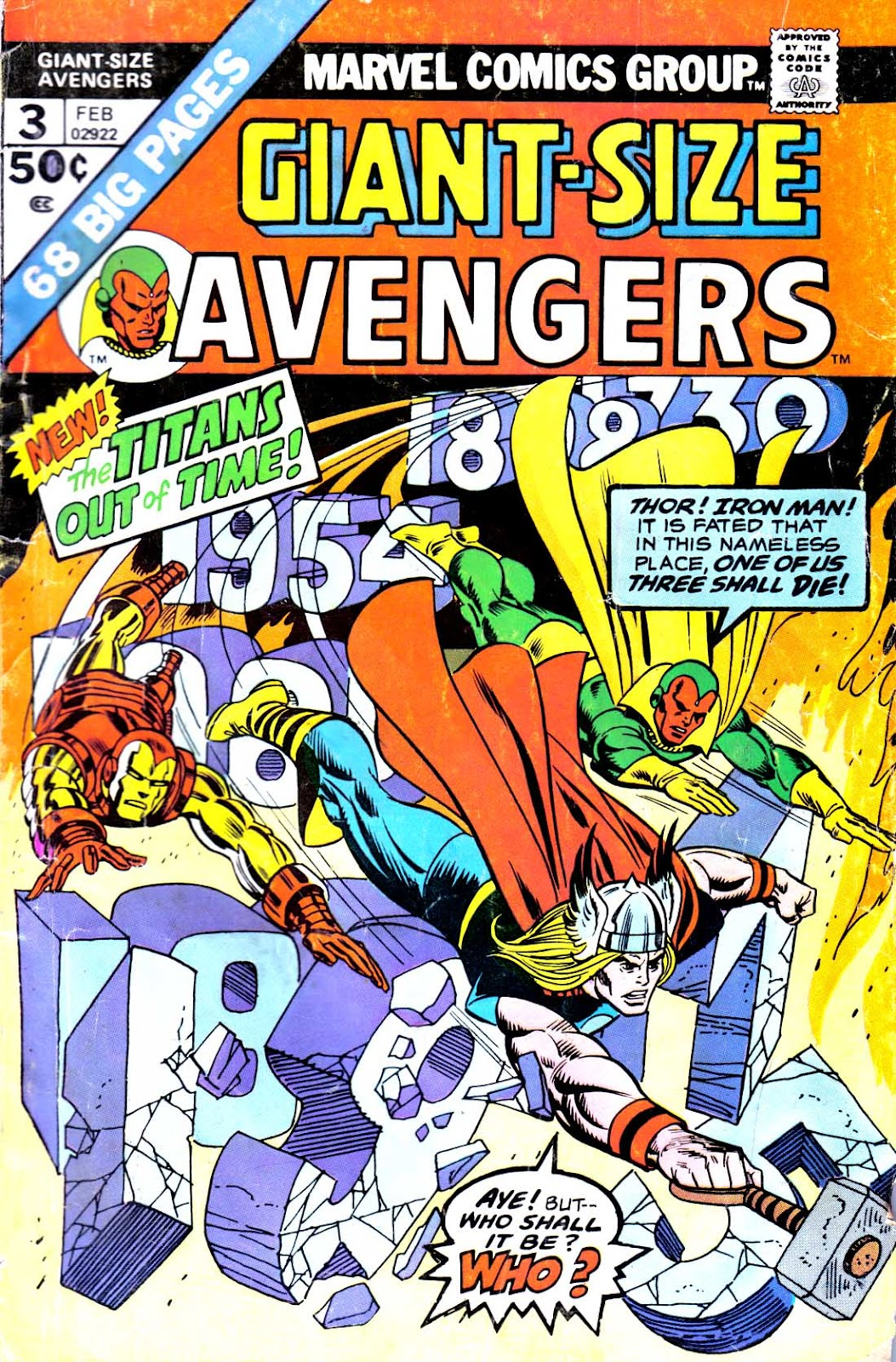 Giant-Size Avengers (1974) issue 3 - Page 1