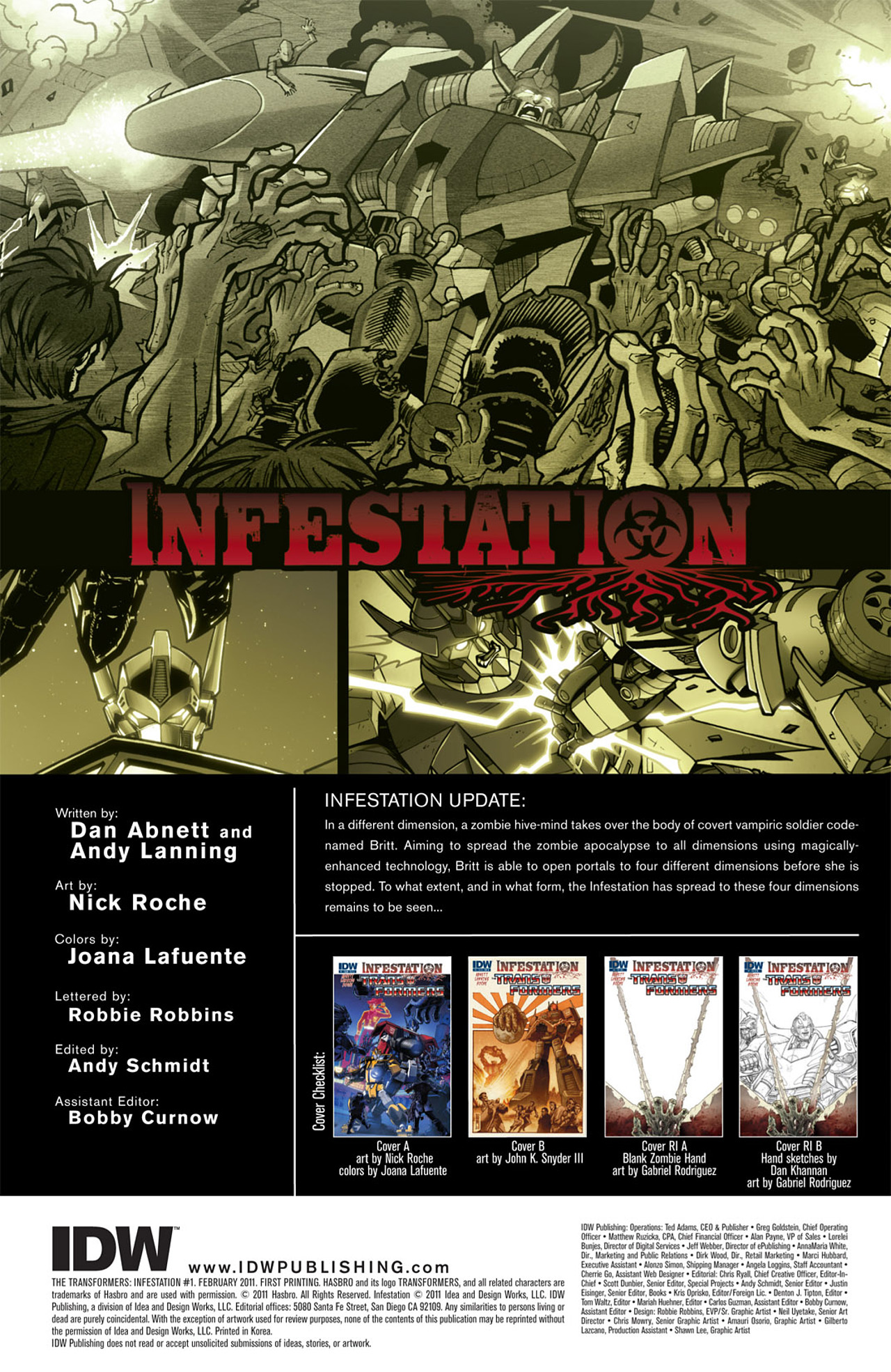 Read online Transformers: Infestation comic -  Issue #1 - 4