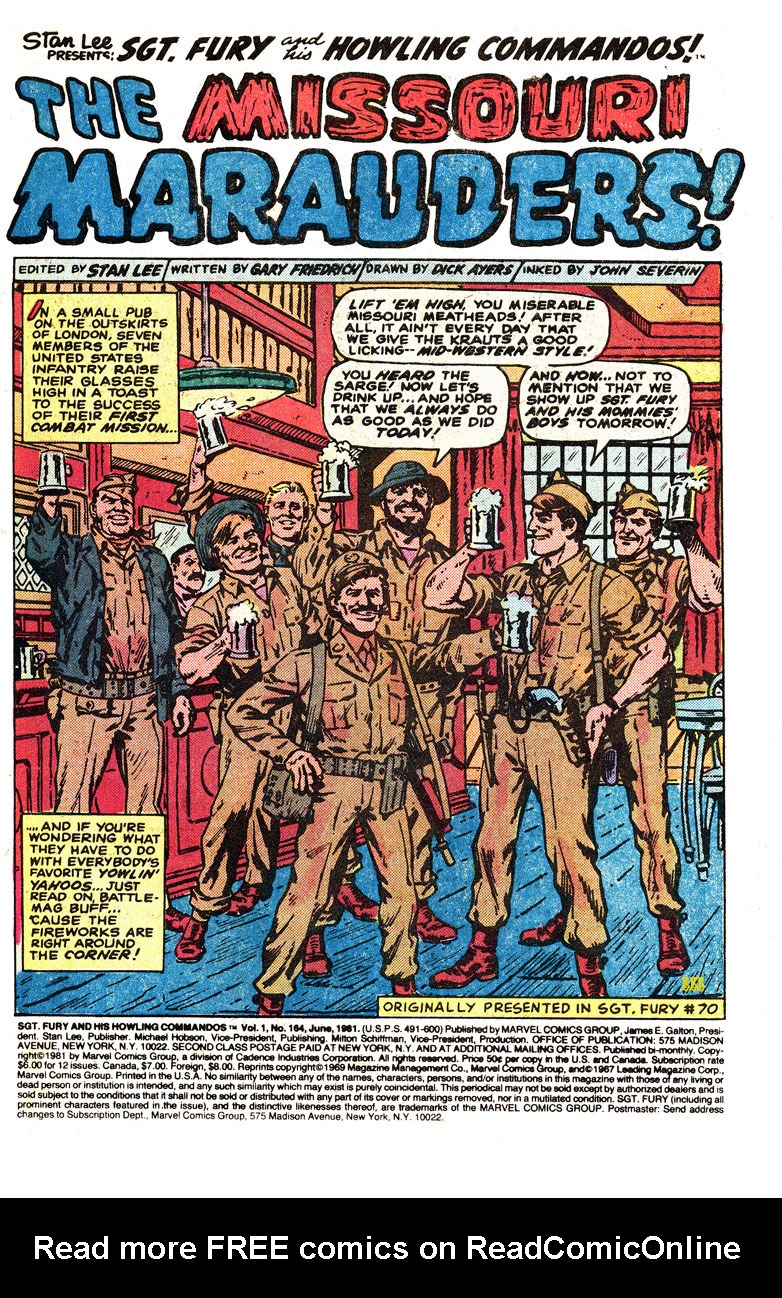 Read online Sgt. Fury comic -  Issue #164 - 3