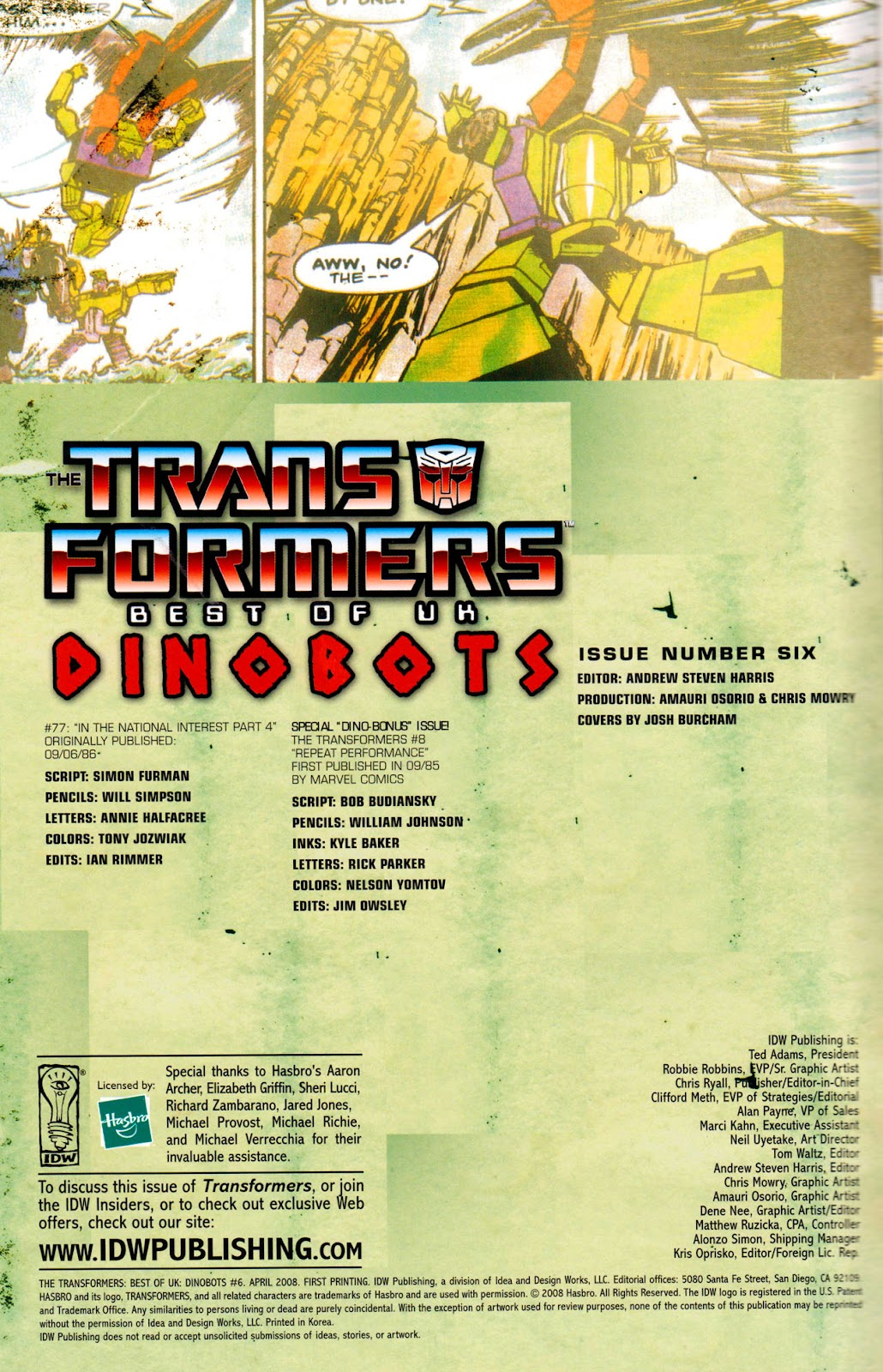 Read online The Transformers: Best of UK: Dinobots comic -  Issue #6 - 3