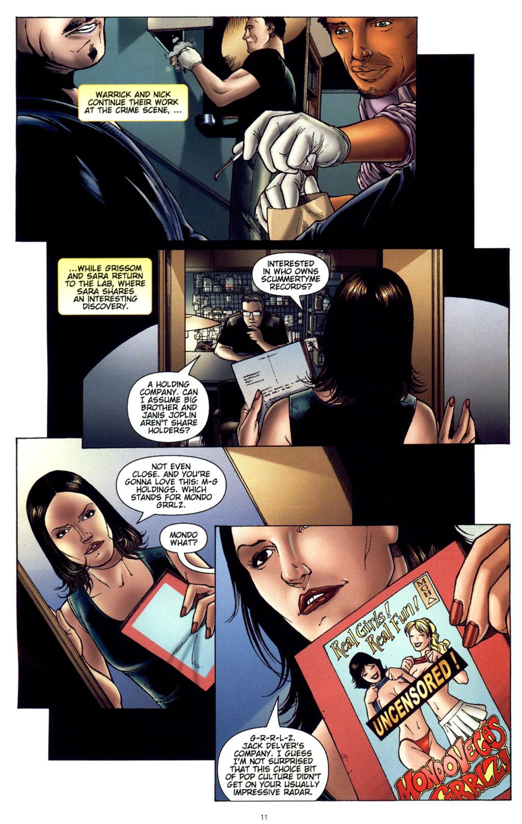 Read online CSI: Crime Scene Investigation: Bad Rap comic -  Issue #4 - 12