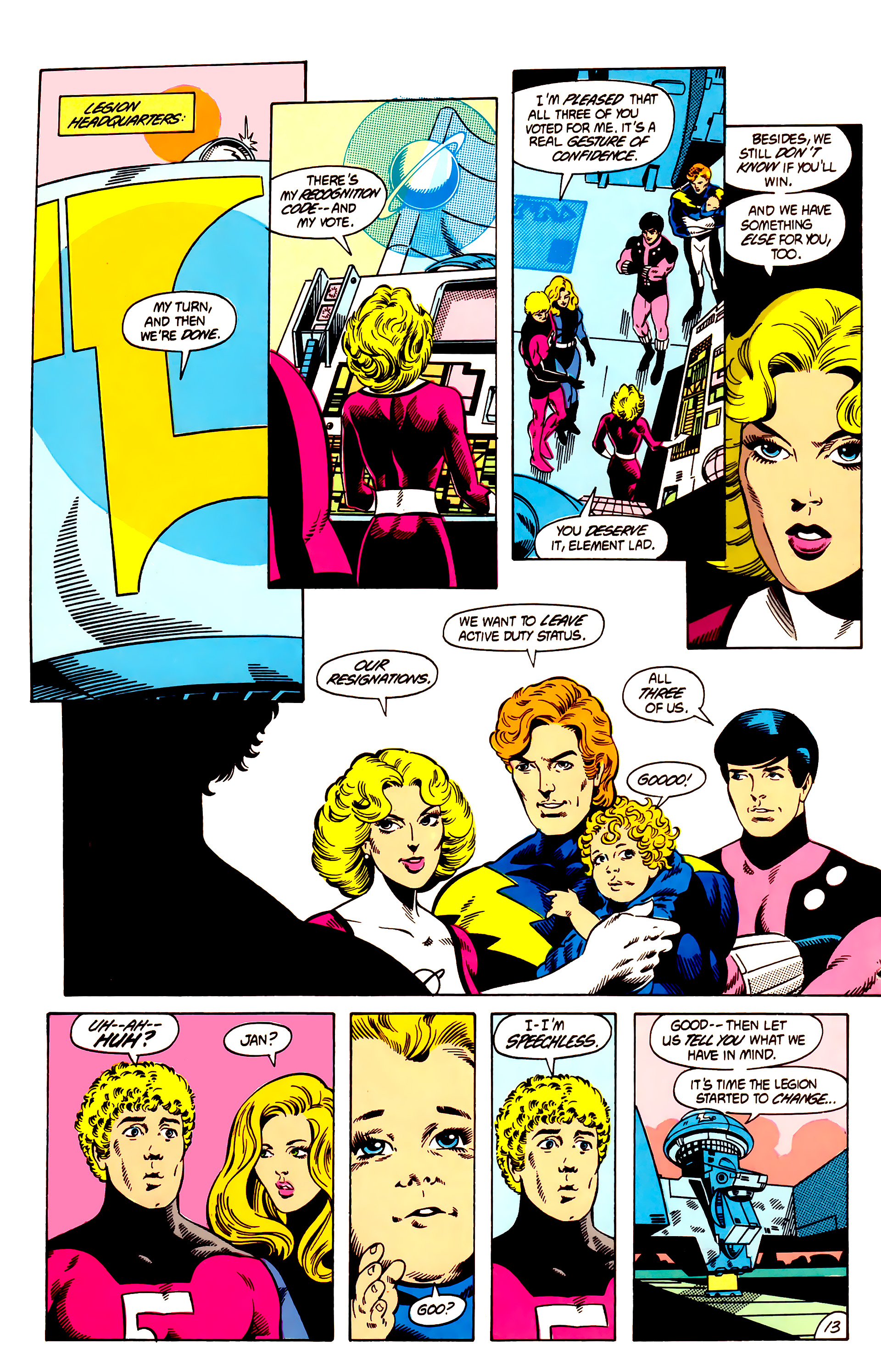 Legion of Super-Heroes (1984) 12 Page 13