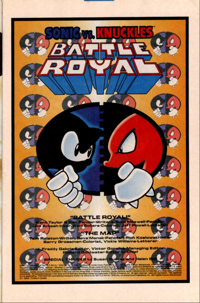 Read online Sonic Super Special comic -  Issue #1 - Sonic Vs. Knuckles Battle Royal - 2