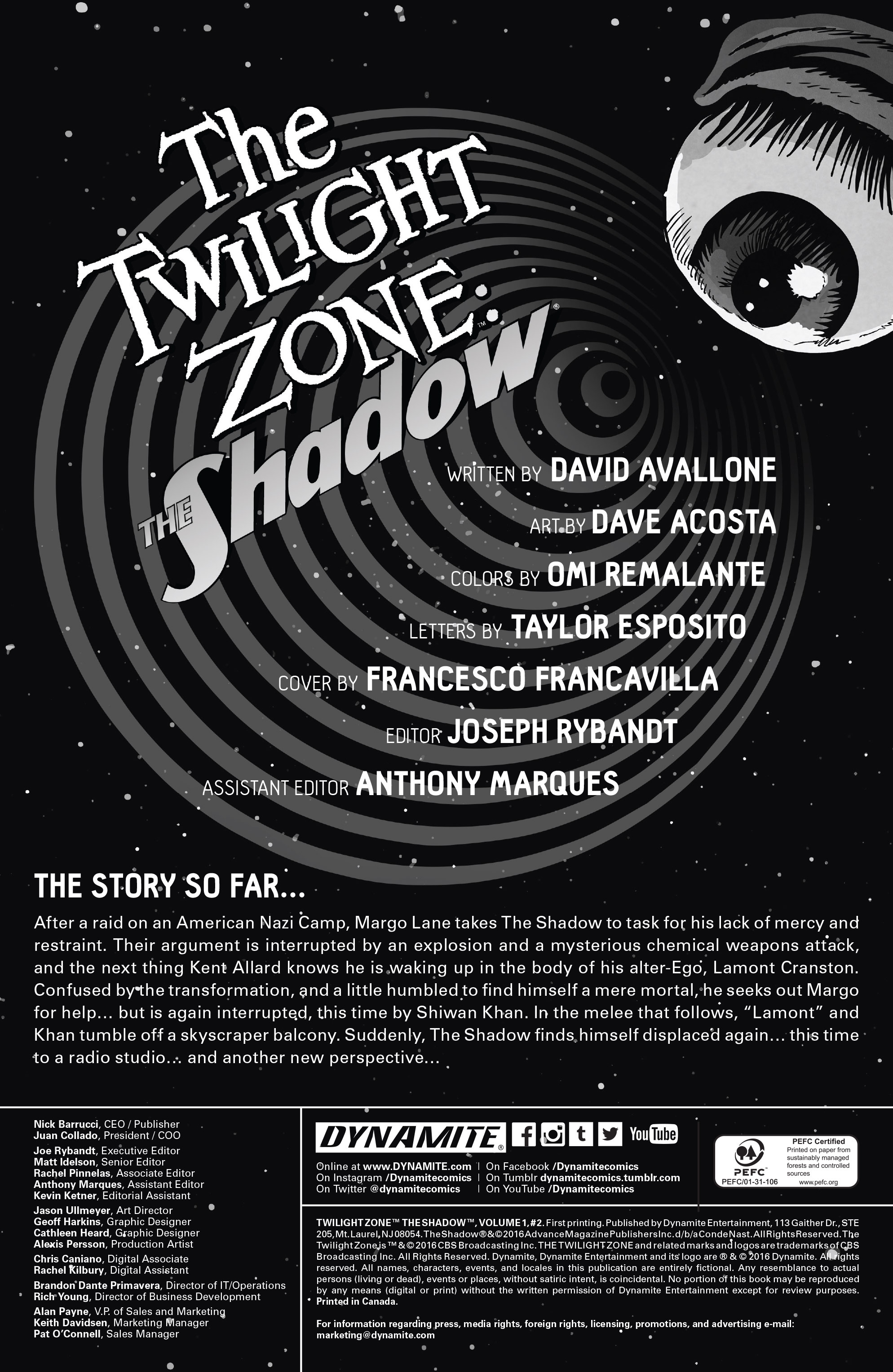 Read online Twilight Zone The Shadow comic -  Issue #2 - 2