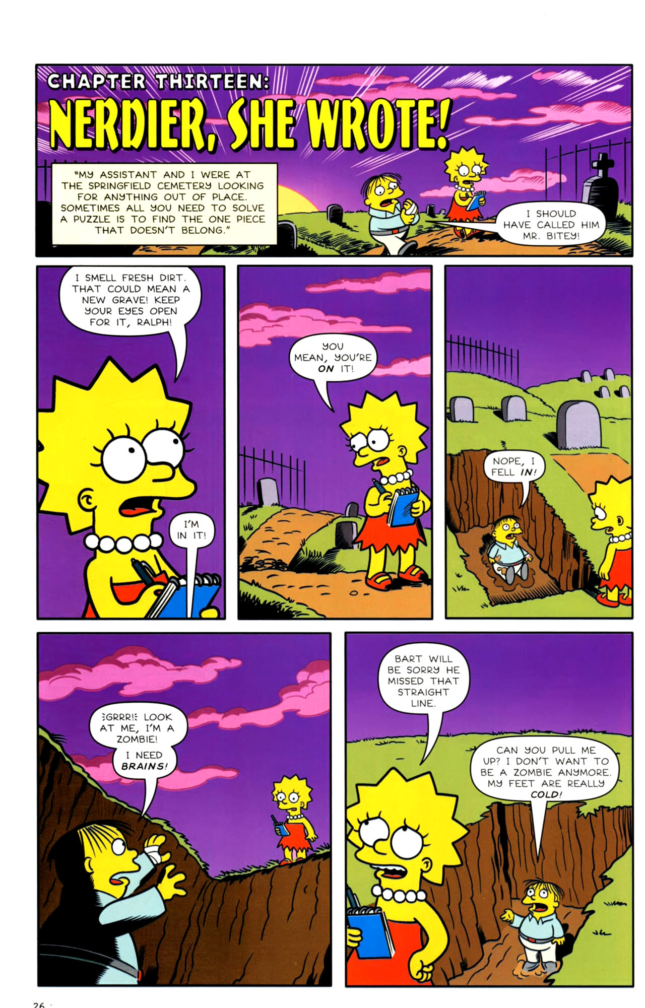 Read online Bongo Comics presents Comic Book Guy: The Comic Book comic -  Issue #4 - 28