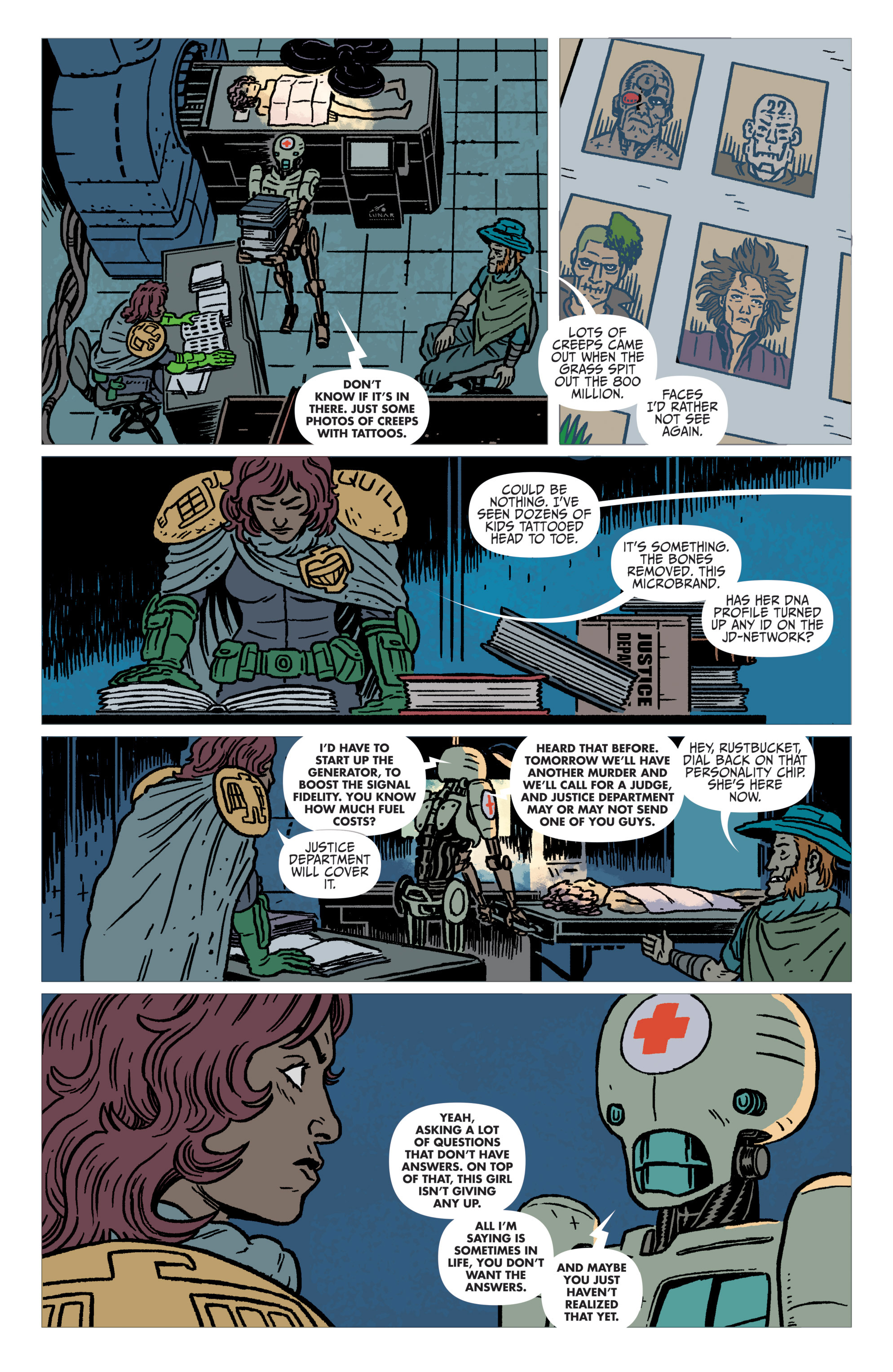Read online Judge Dredd: The Blessed Earth comic -  Issue #1 - 20