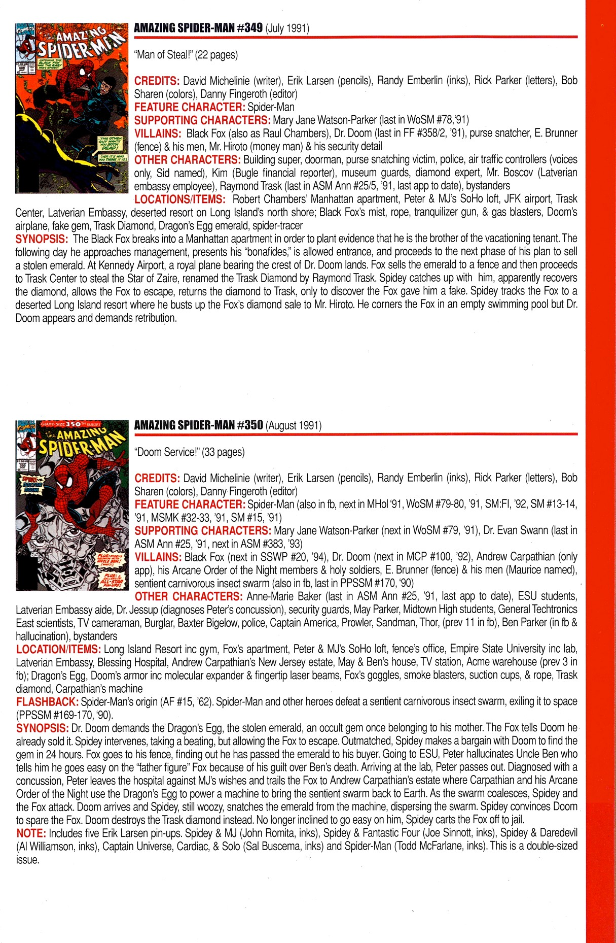Read online Official Index to the Marvel Universe comic -  Issue #8 - 15