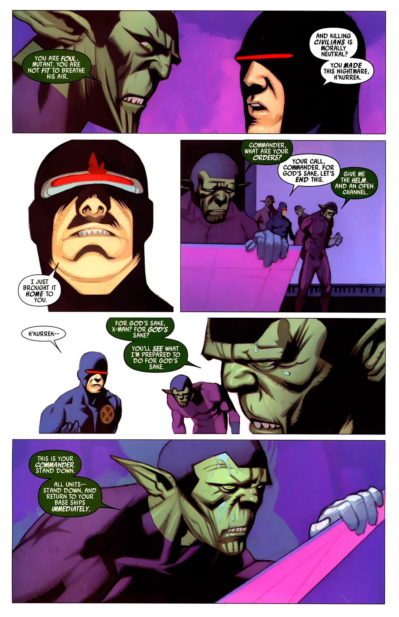 Read online Secret Invasion: X-Men comic -  Issue #4 - 19