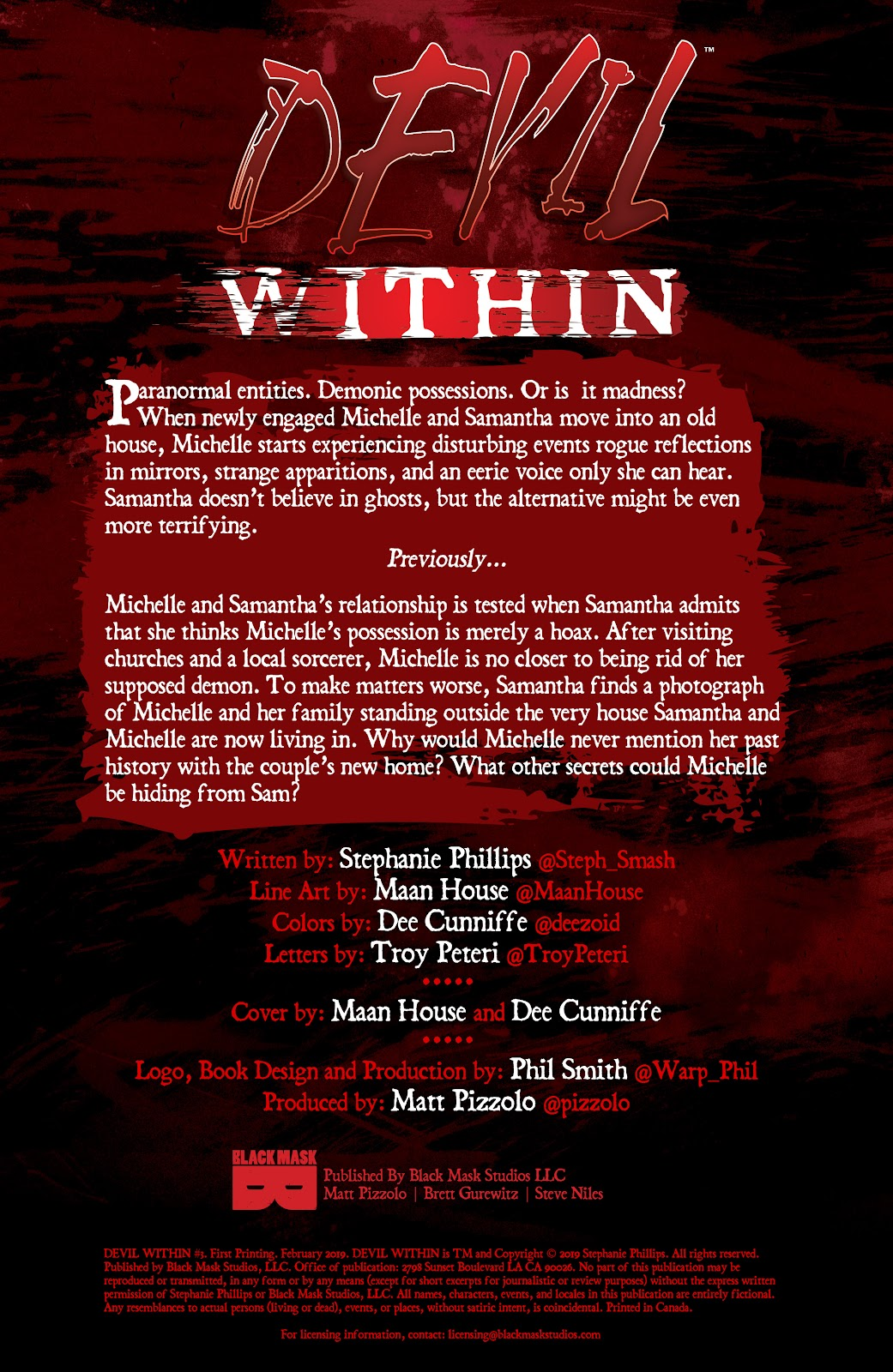 Read online Devil Within comic -  Issue #3 - 2
