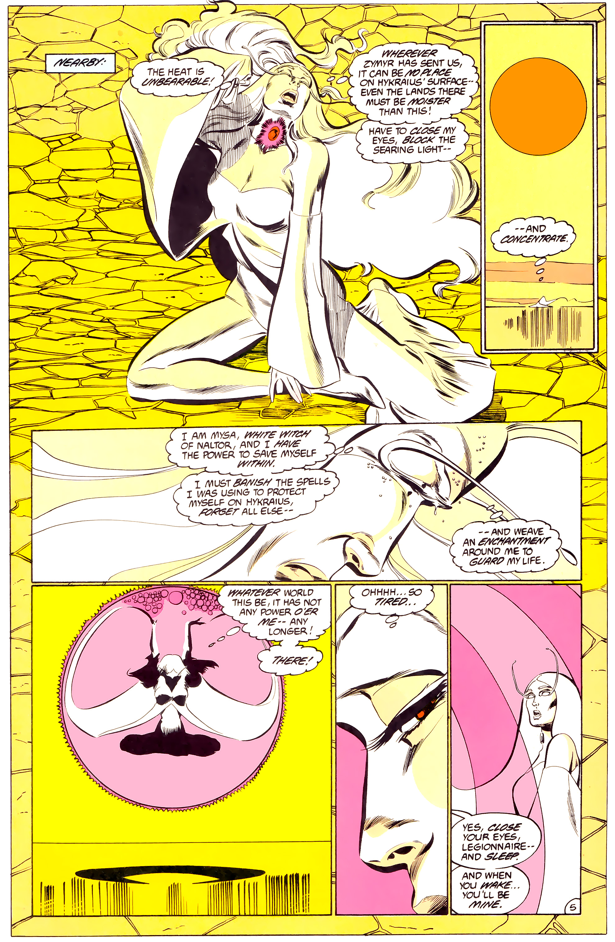 Legion of Super-Heroes (1984) 34 Page 5