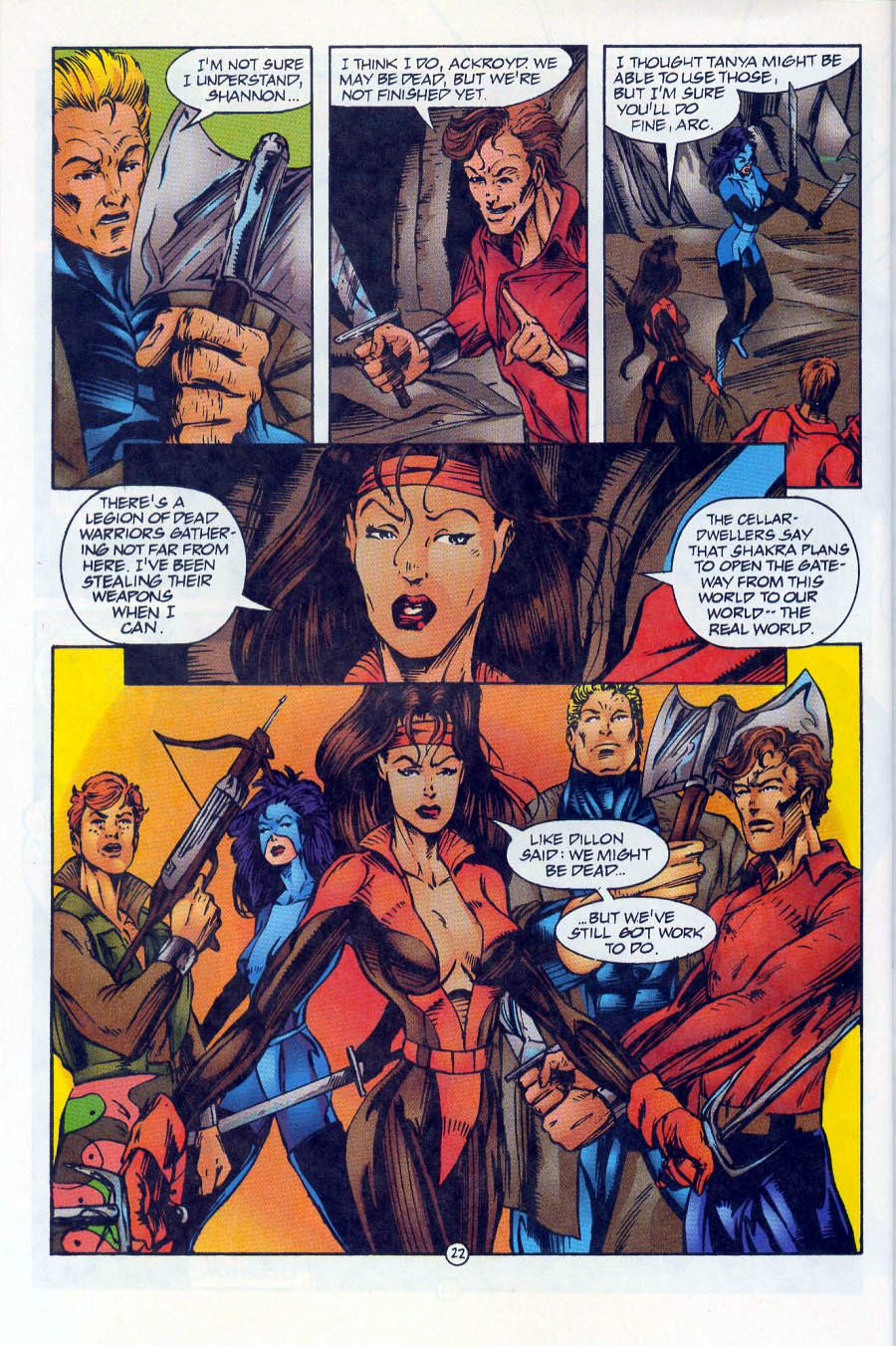 Read online Ex-Mutants comic -  Issue #16 - 22