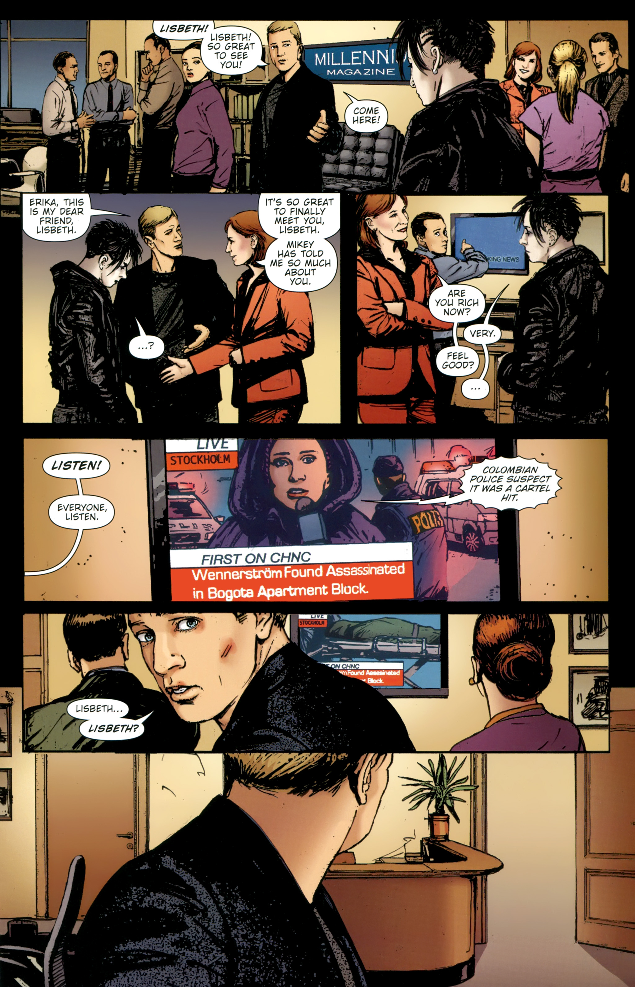 Read online The Girl With the Dragon Tattoo comic -  Issue # TPB 2 - 155