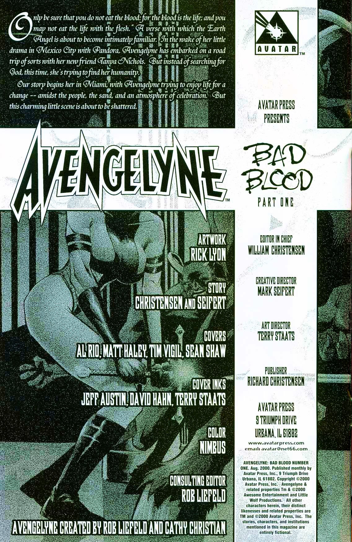 Read online Avengelyne: Bad Blood comic -  Issue #1 - 4