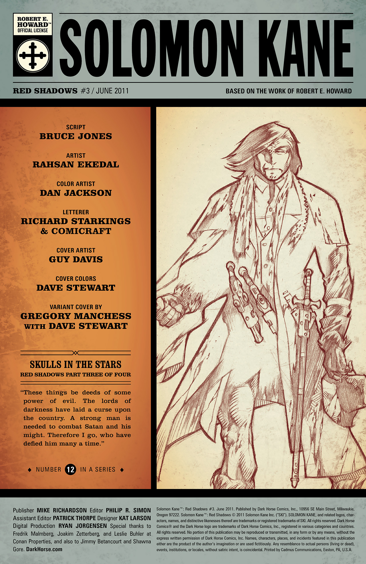 Read online Solomon Kane: Red Shadows comic -  Issue #3 - 3
