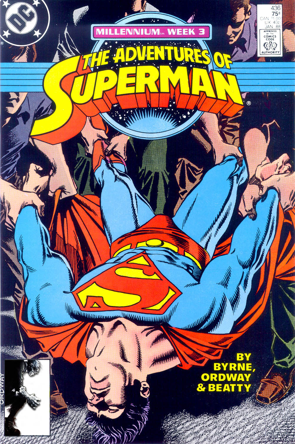 Read online Adventures of Superman (1987) comic -  Issue #436 - 1