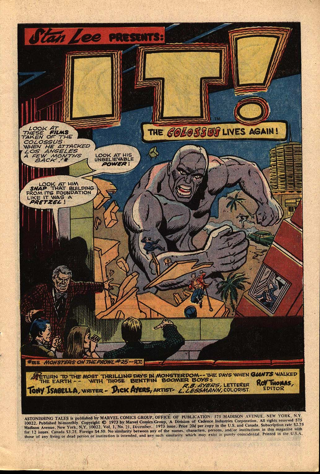 Read online Astonishing Tales (1970) comic -  Issue #21 - 2