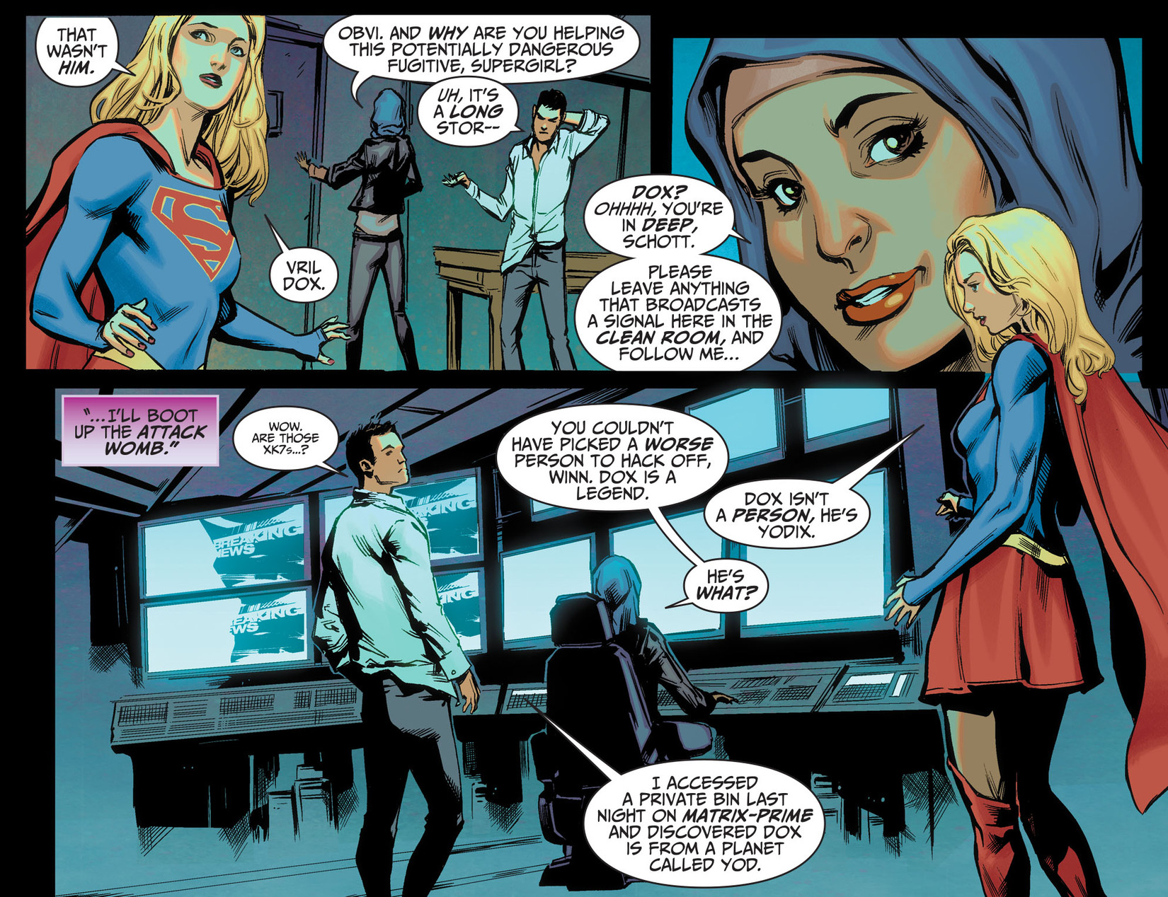 Read online Adventures of Supergirl comic -  Issue #5 - 7