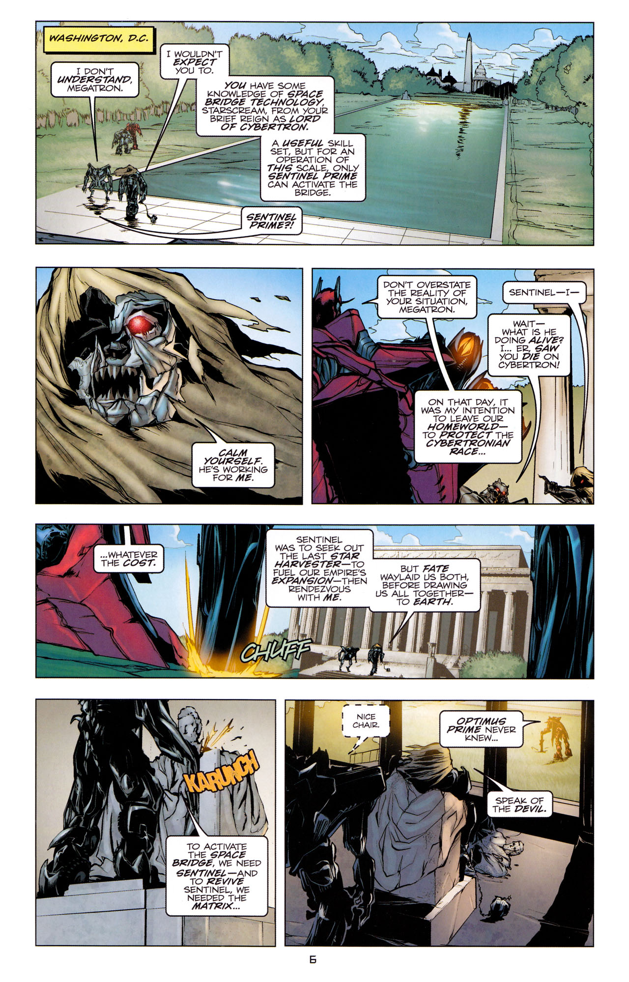 Read online Transformers: Dark of the Moon Movie Adaptation comic -  Issue #3 - 8