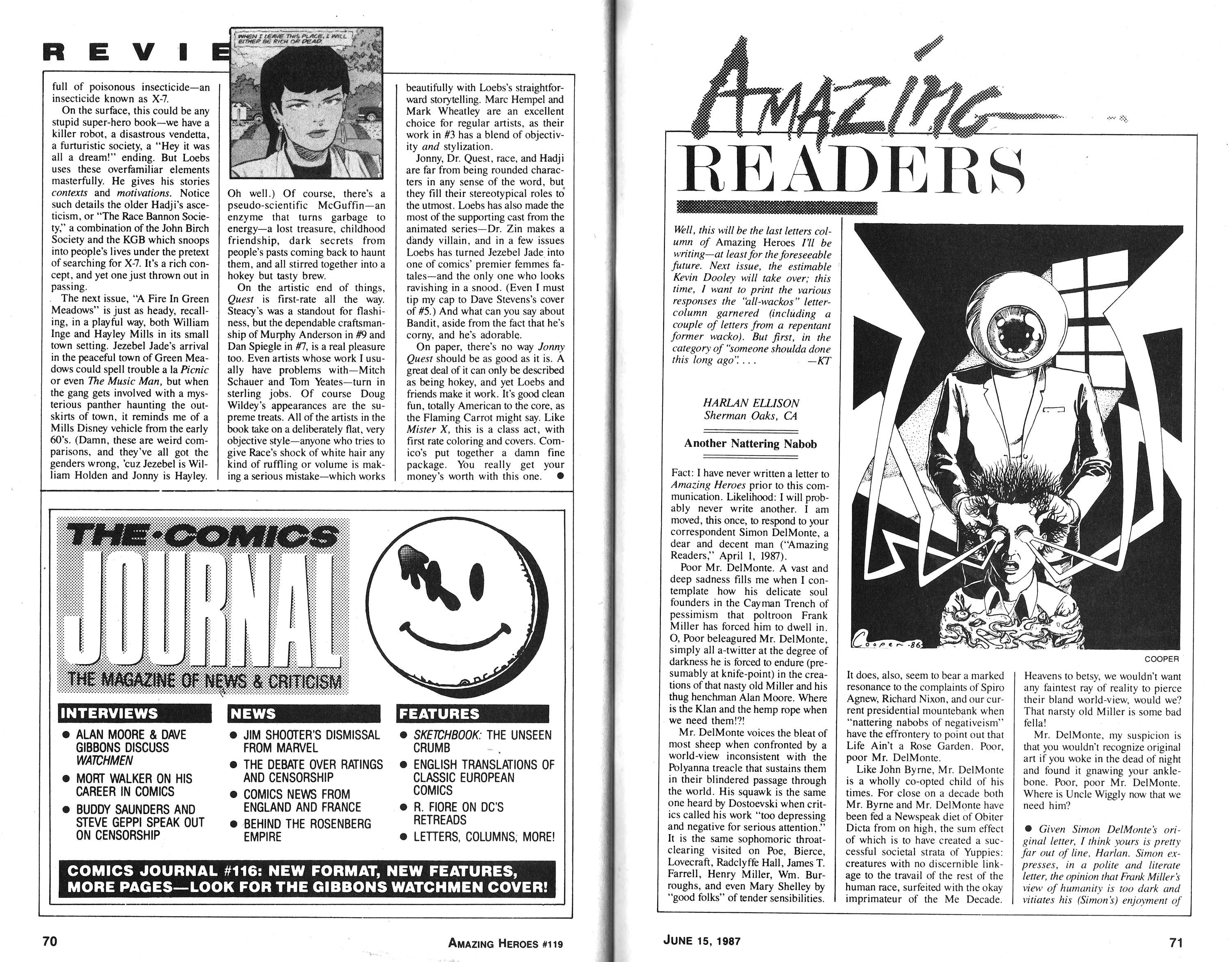 Read online Amazing Heroes comic -  Issue #119 - 36