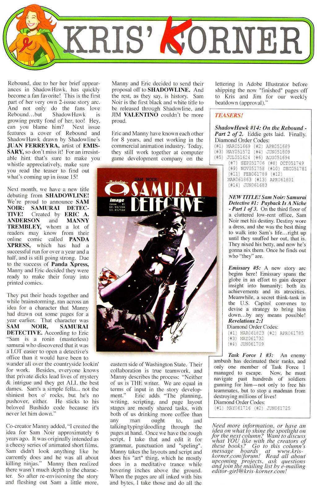 Read online ShadowHawk (2005) comic -  Issue #14 - 30