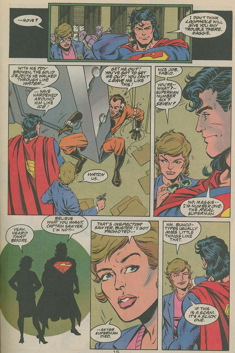 Read online Adventures of Superman (1987) comic -  Issue #505 - 16