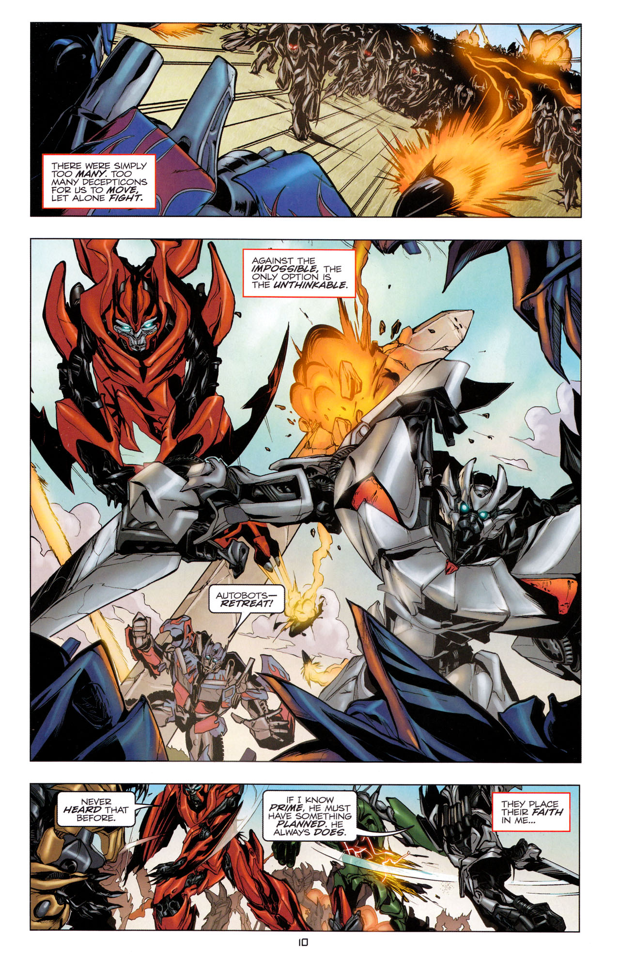 Read online Transformers: Dark of the Moon Movie Adaptation comic -  Issue #3 - 12