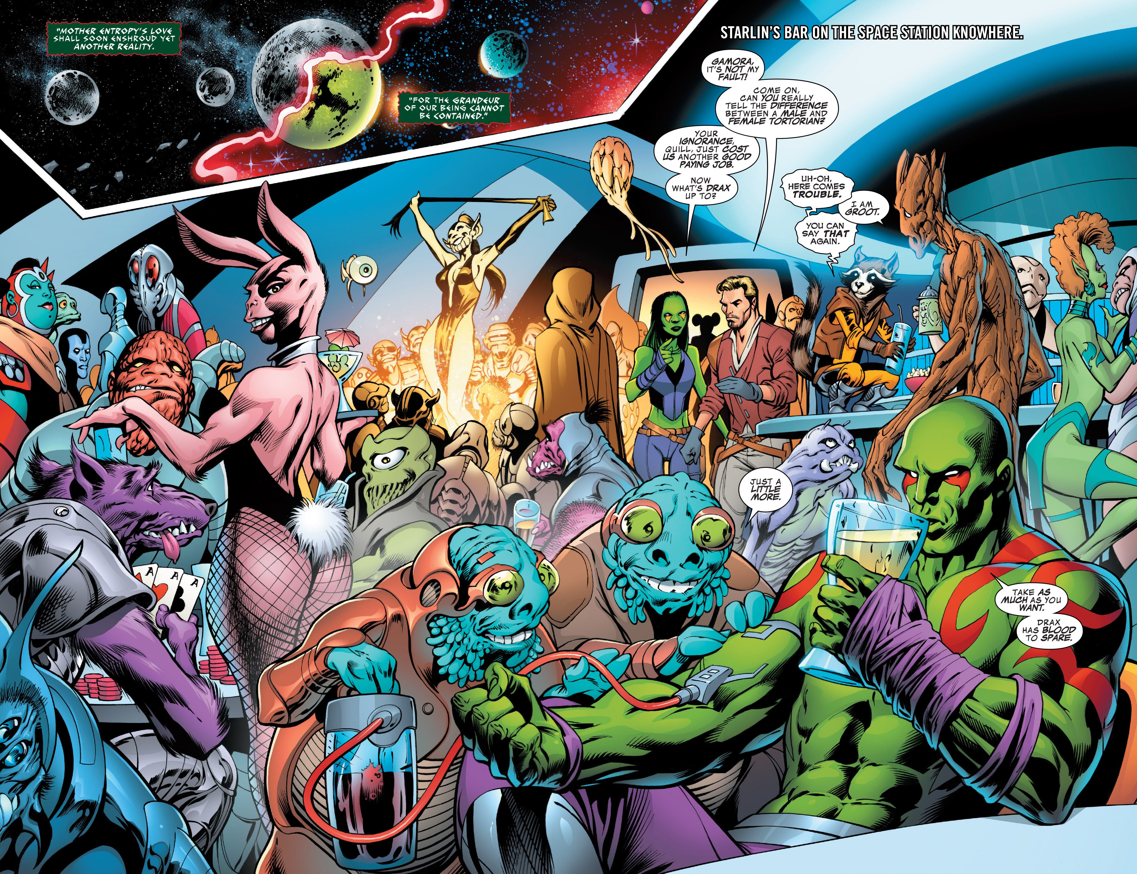 Read online Guardians of the Galaxy: Mother Entropy comic -  Issue #1 - 5
