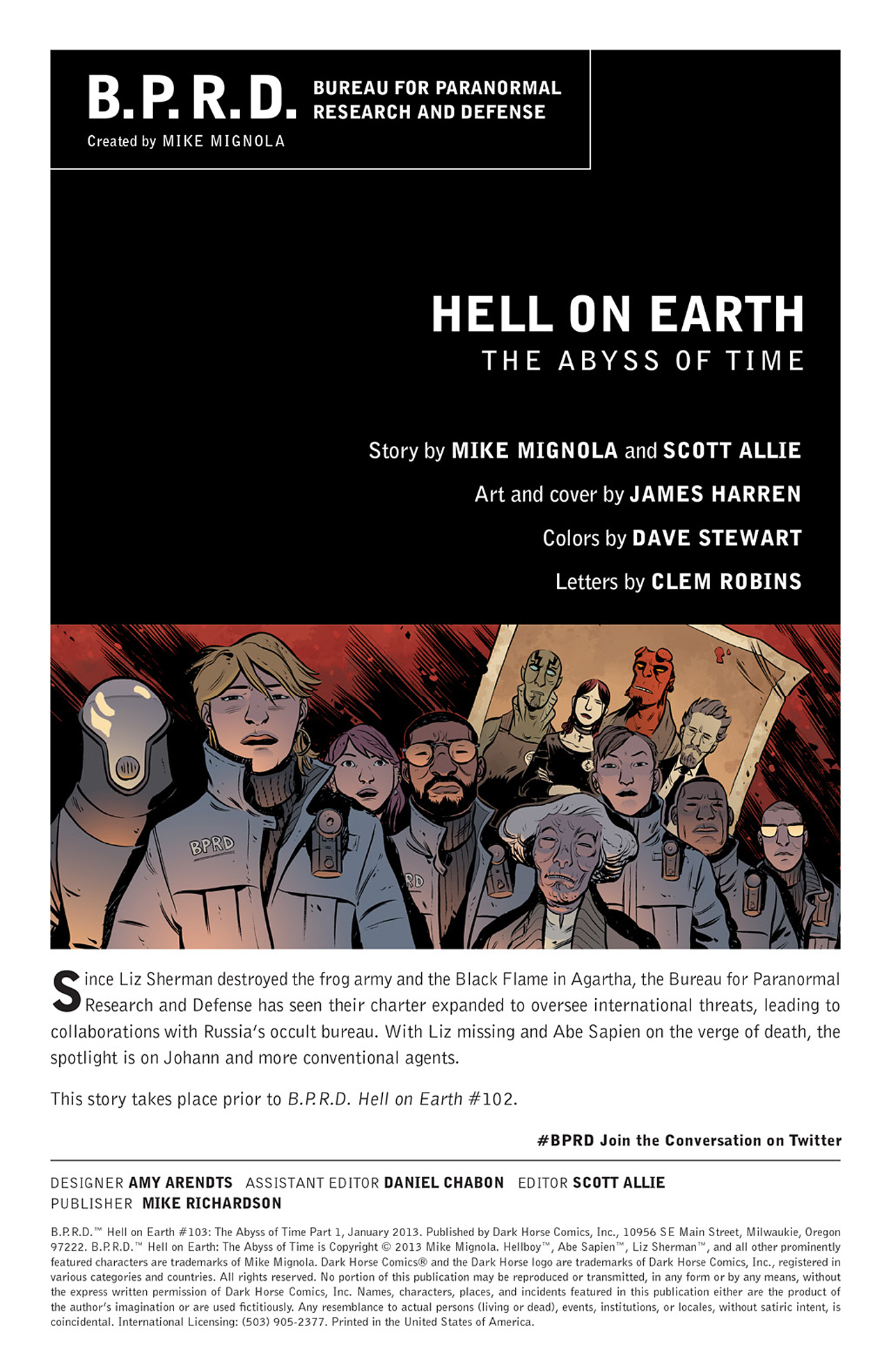 Read online B.P.R.D. Hell on Earth: The Abyss of Time comic -  Issue #103 - 2