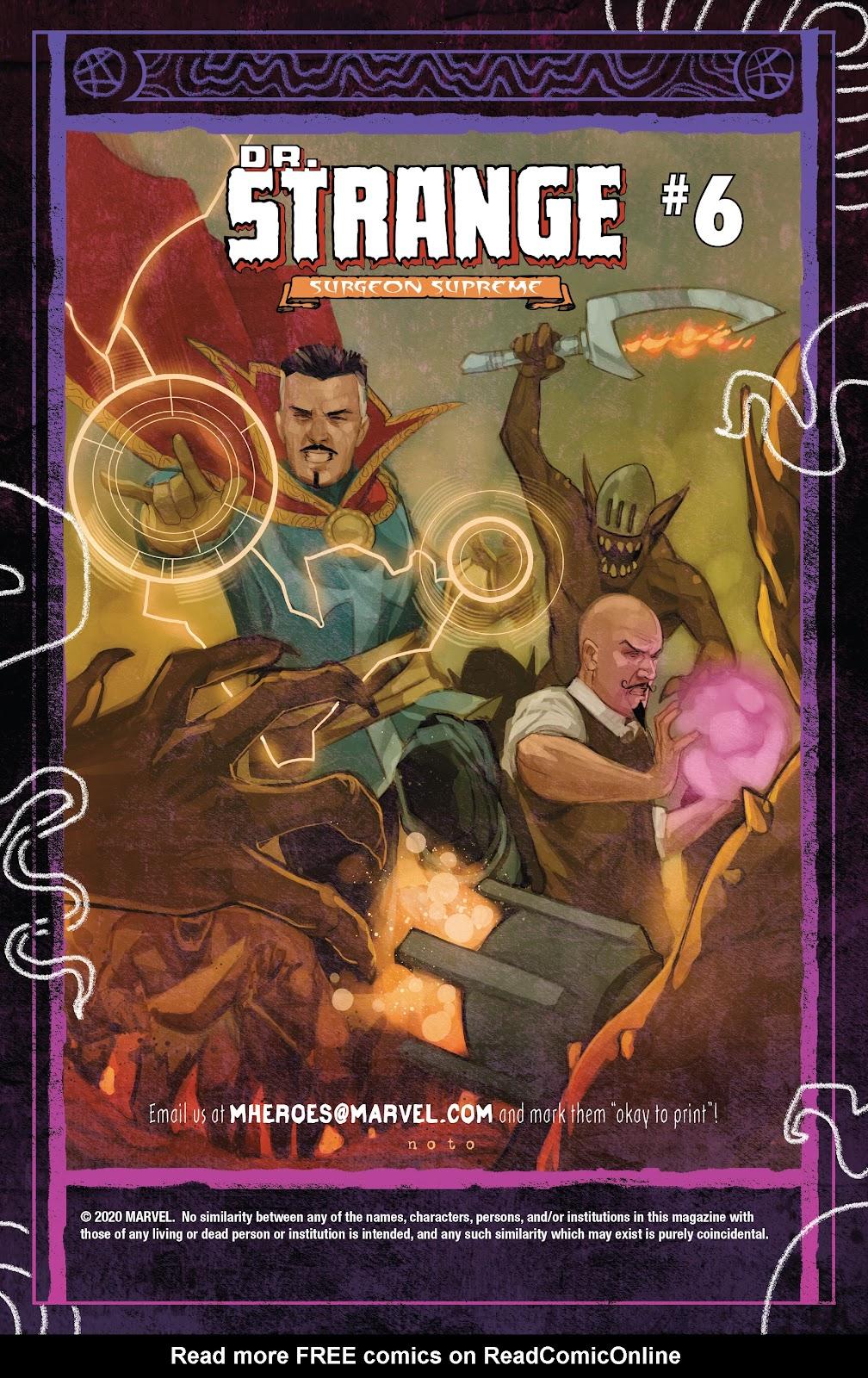 Read online Dr. Strange comic -  Issue #5 - 22
