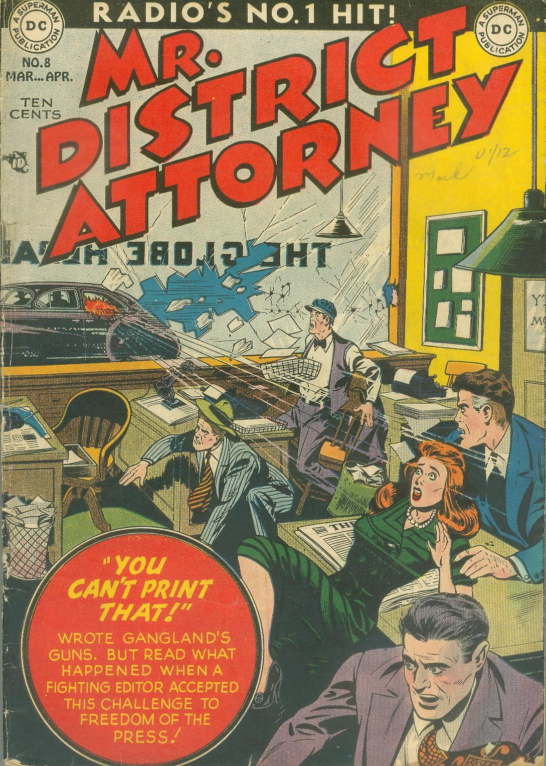 Mr. District Attorney issue 8 - Page 1