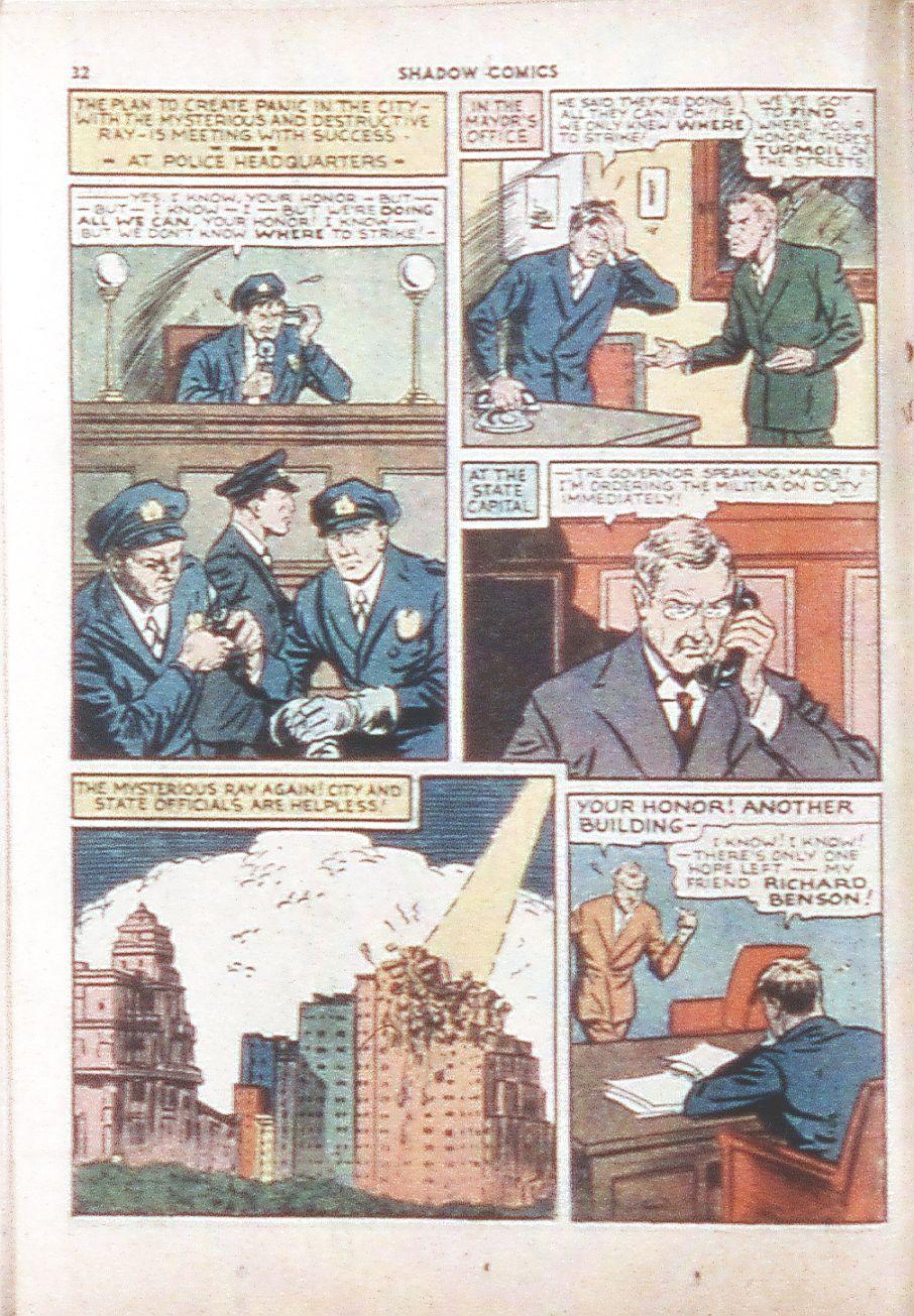 Read online Shadow Comics comic -  Issue #6 - 34