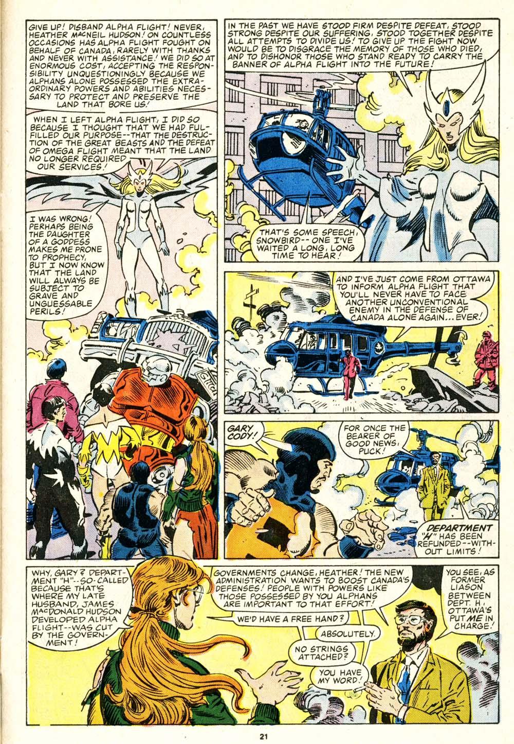 Read online Alpha Flight (1983) comic -  Issue #29 - 22