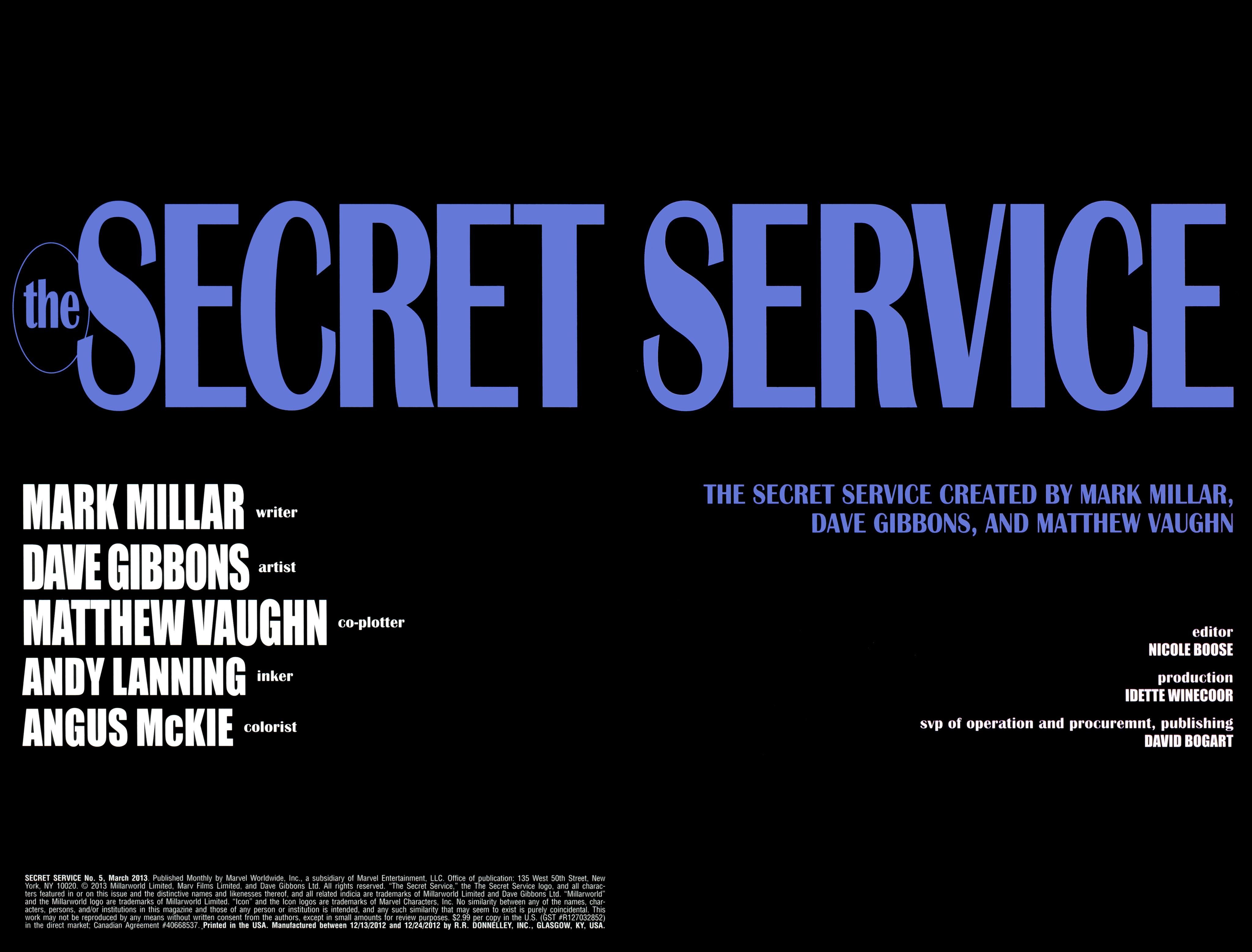 Read online Secret Service comic -  Issue #5 - 2