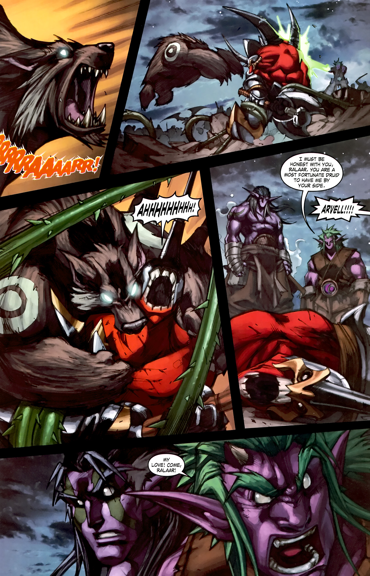 Read online World of Warcraft: Curse of the Worgen comic -  Issue #1 - 23