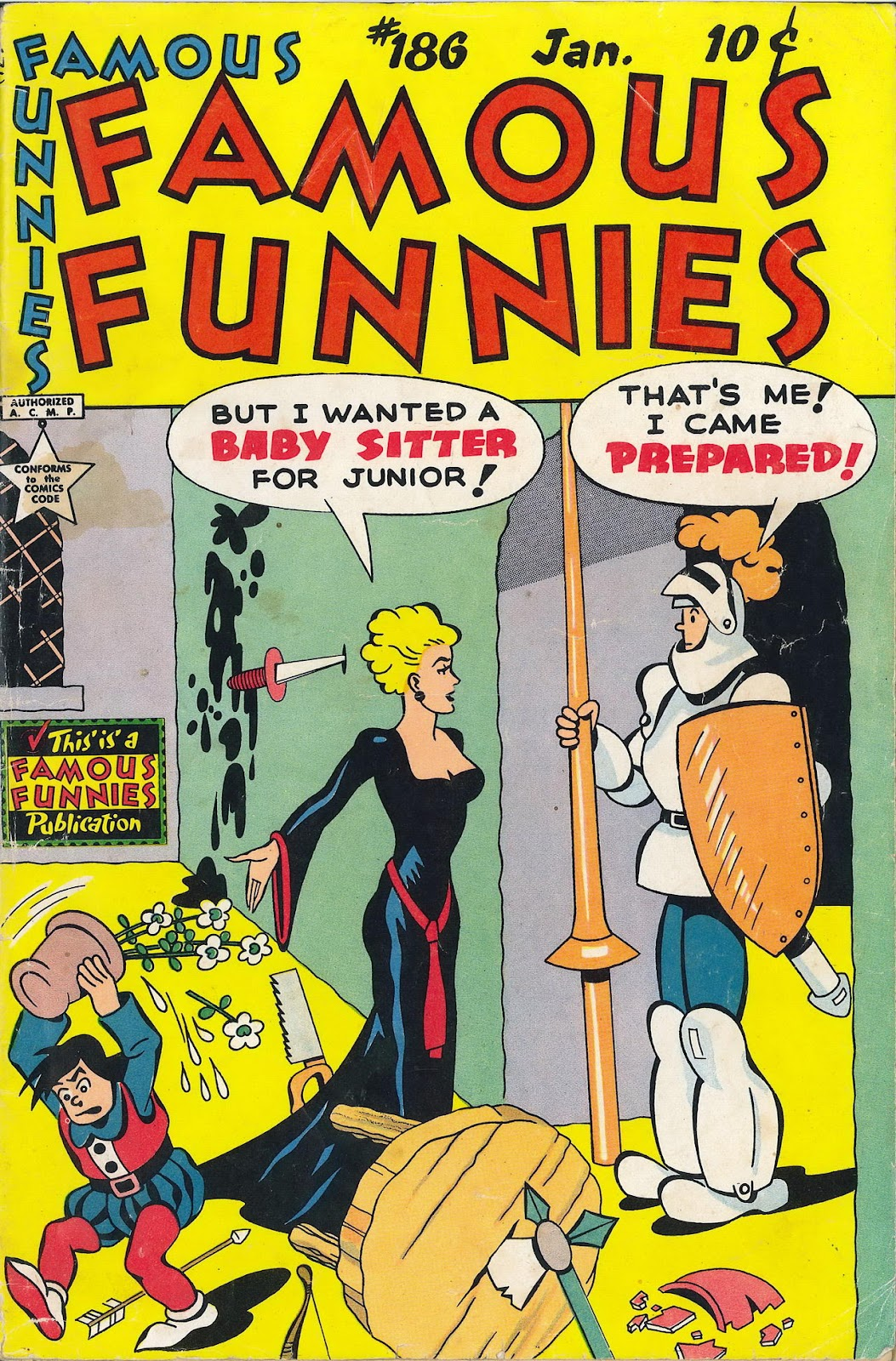 Read online Famous Funnies comic -  Issue #186 - 1