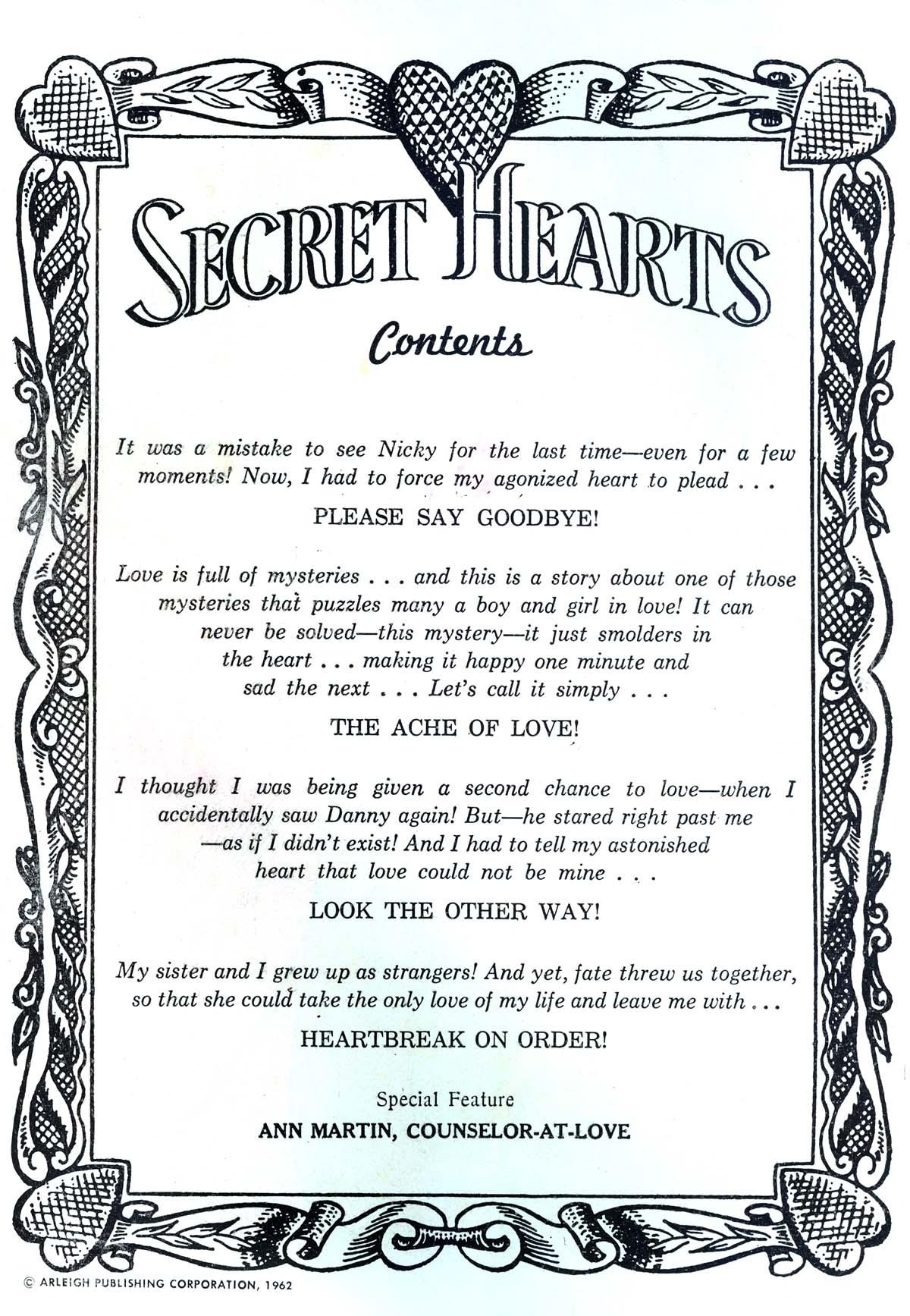 Read online Secret Hearts comic -  Issue #85 - 2