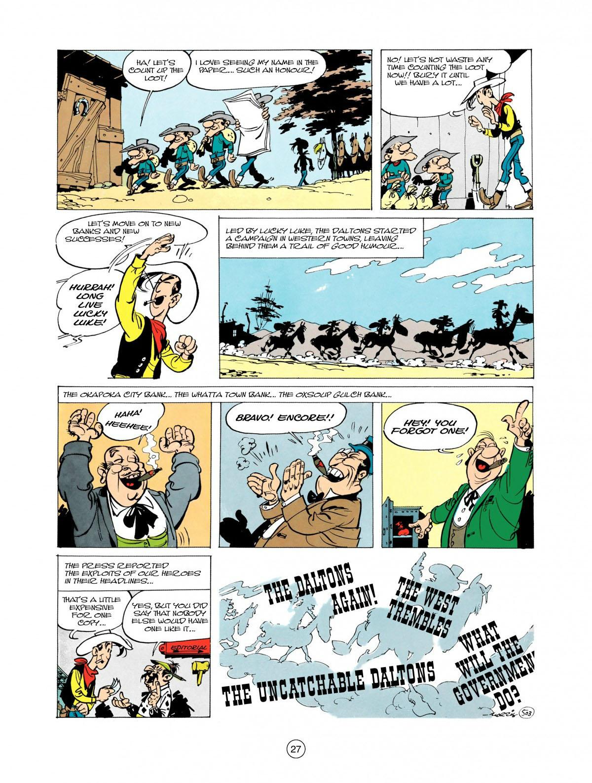 Read online A Lucky Luke Adventure comic -  Issue #28 - 28