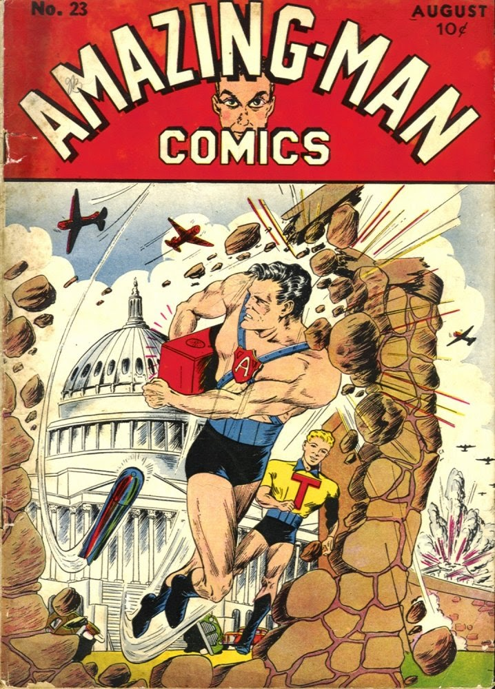 Read online Amazing Man Comics comic -  Issue #23 - 1