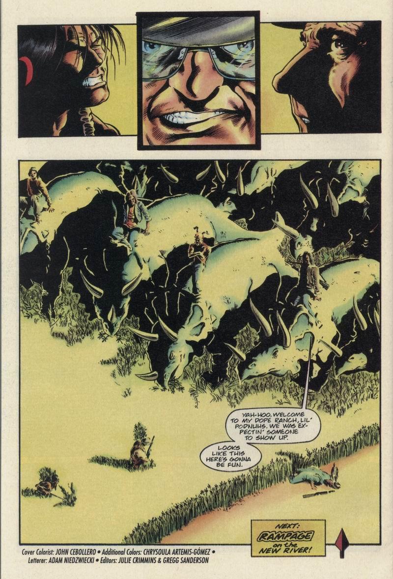 Read online Turok, Dinosaur Hunter (1993) comic -  Issue #21 - 22