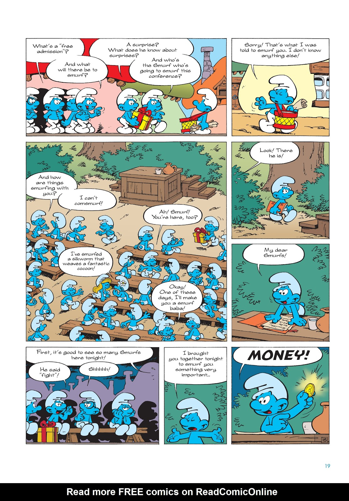 Read online The Smurfs comic -  Issue #18 - 19