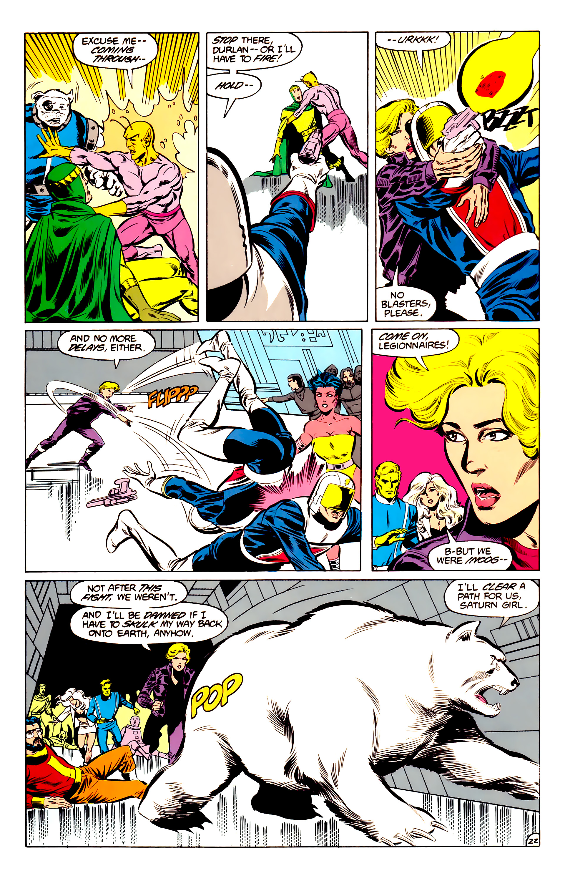 Legion of Super-Heroes (1984) 34 Page 22