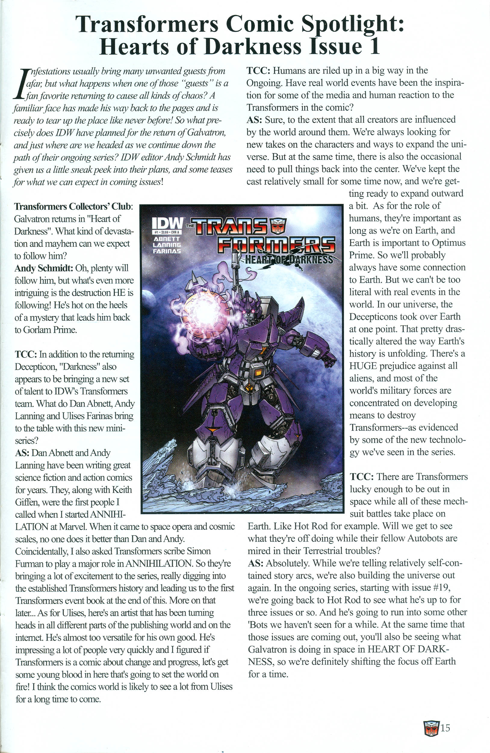 Read online Transformers: Collectors' Club comic -  Issue #37 - 15