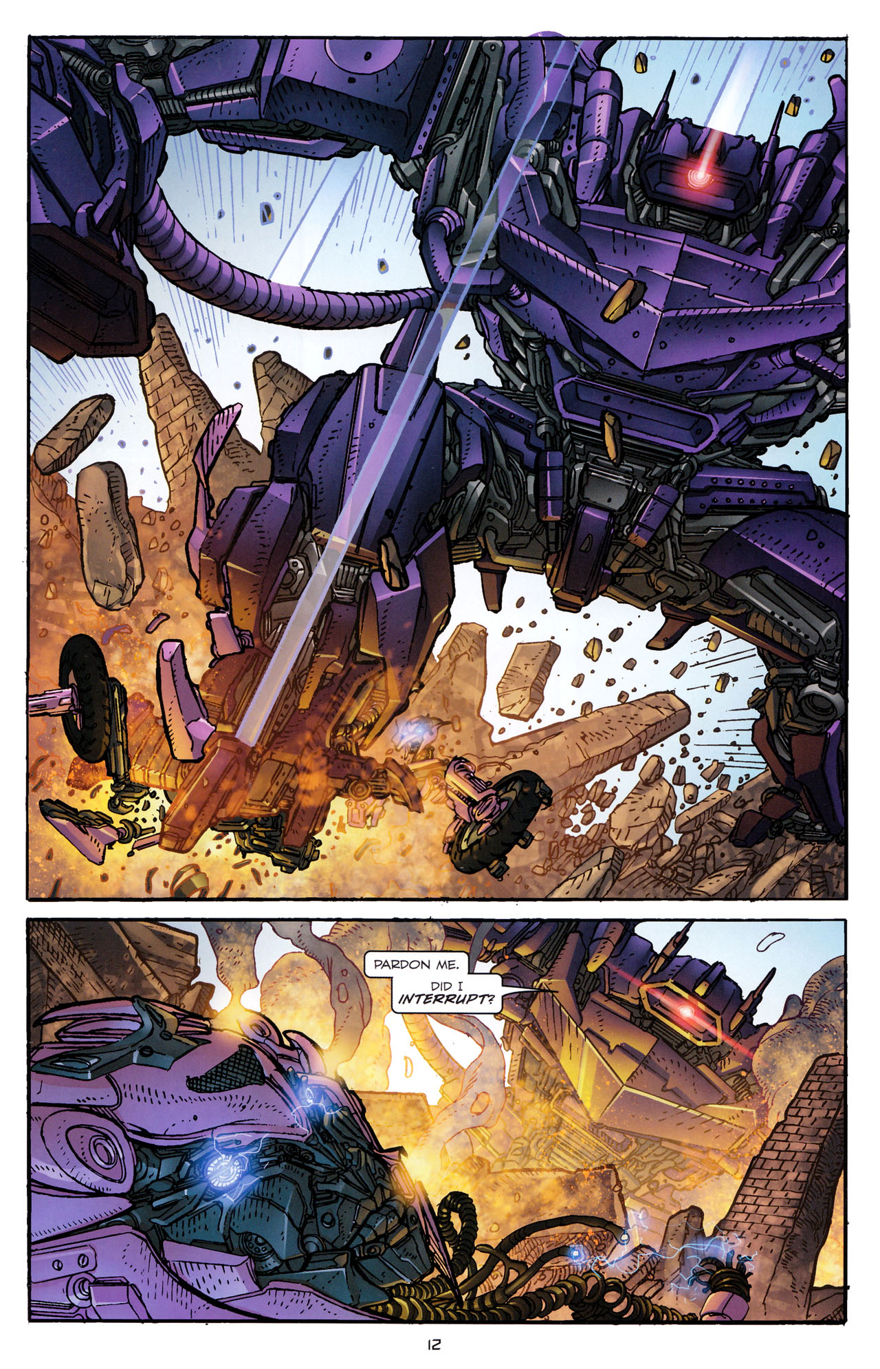 Read online Transformers: Dark of the Moon Rising Storm comic -  Issue #4 - 13