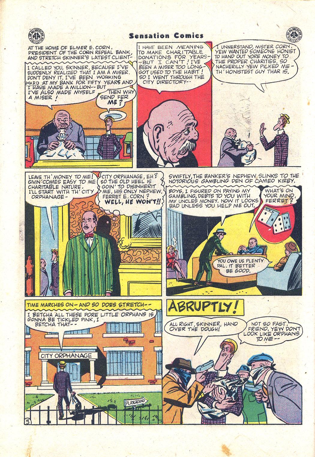 Read online Sensation (Mystery) Comics comic -  Issue #43 - 43