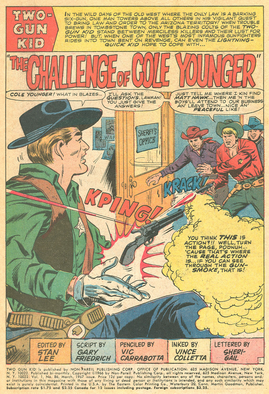 Read online Two-Gun Kid comic -  Issue #86 - 3
