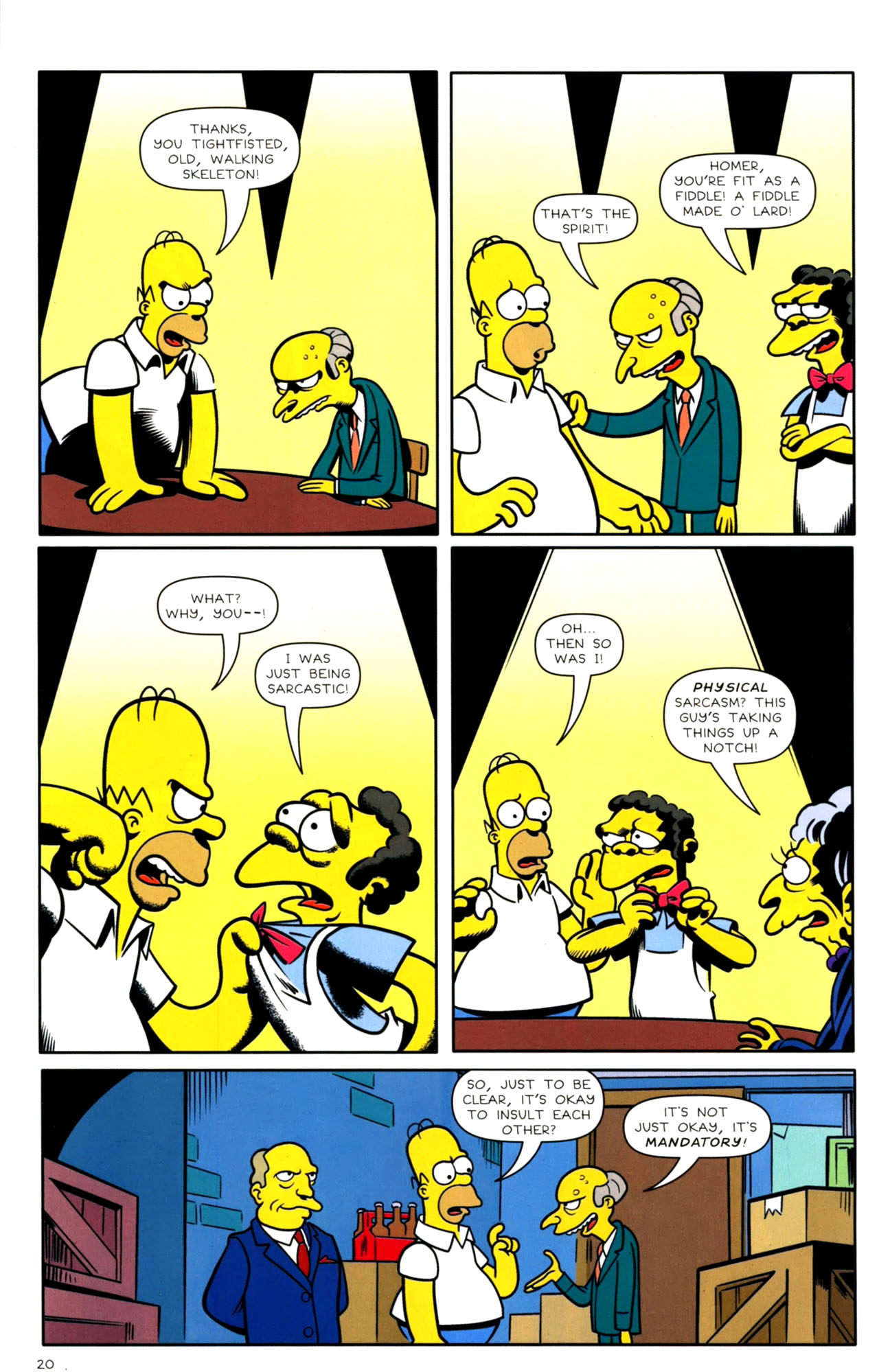 Read online Bongo Comics presents Comic Book Guy: The Comic Book comic -  Issue #4 - 22