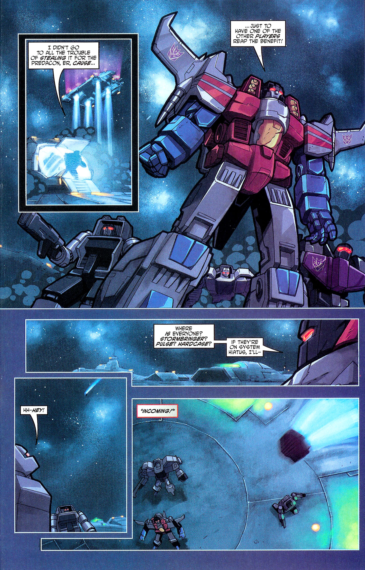 "Read online Transformers War Within: ""The Dark Ages"" comic -  Issue #1 - 18"