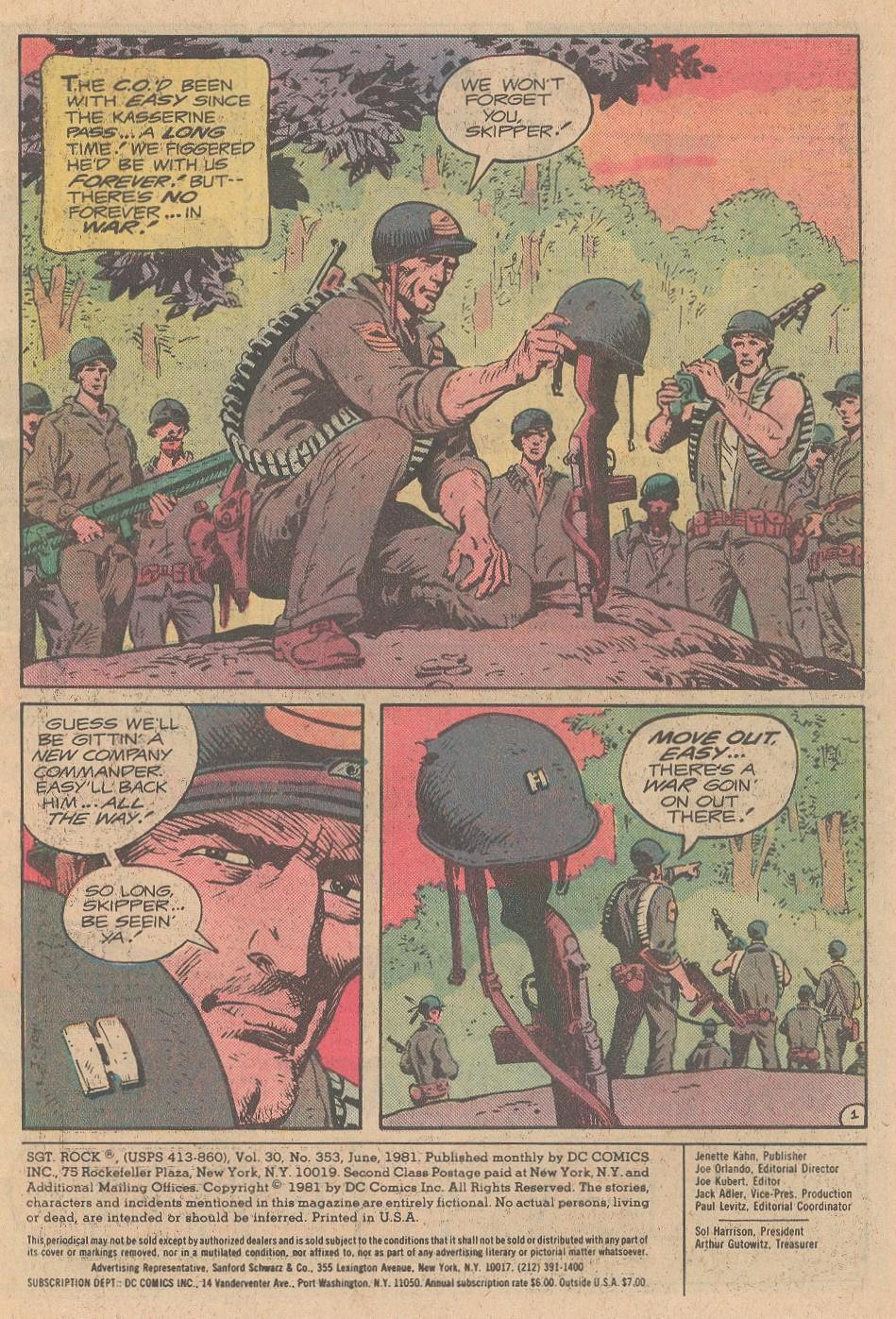 Read online Sgt. Rock comic -  Issue #353 - 2